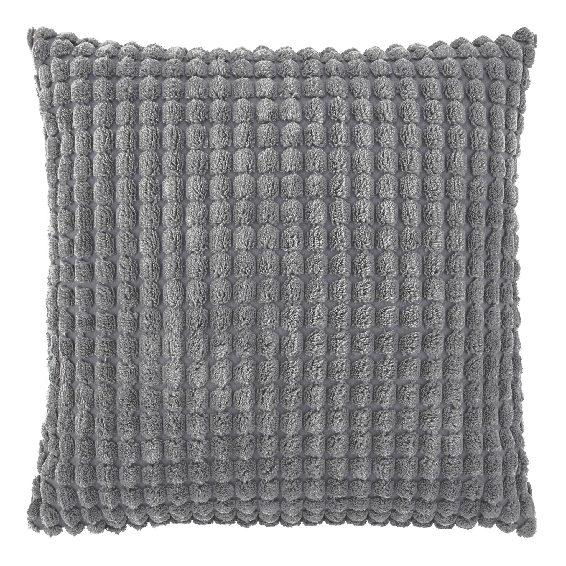 ROME - Sierkussen uni Charcoal Gray 45x45 cm
