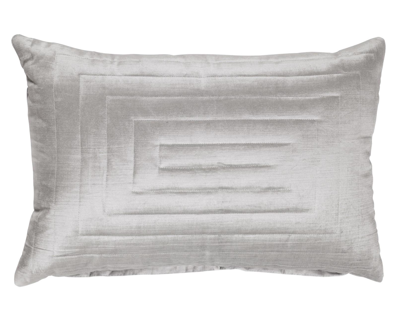 SQUARE PATTERNS - Walra sierkussen grijs 40x60 cm