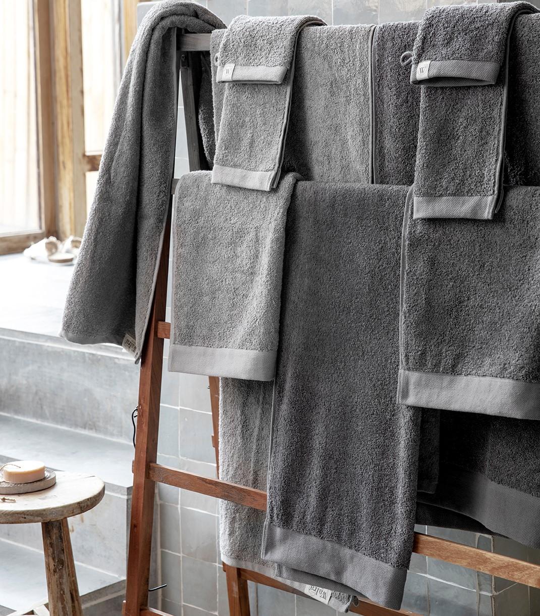 Badlaken Walra Soft Katoen II 70x140 cm Antraciet
