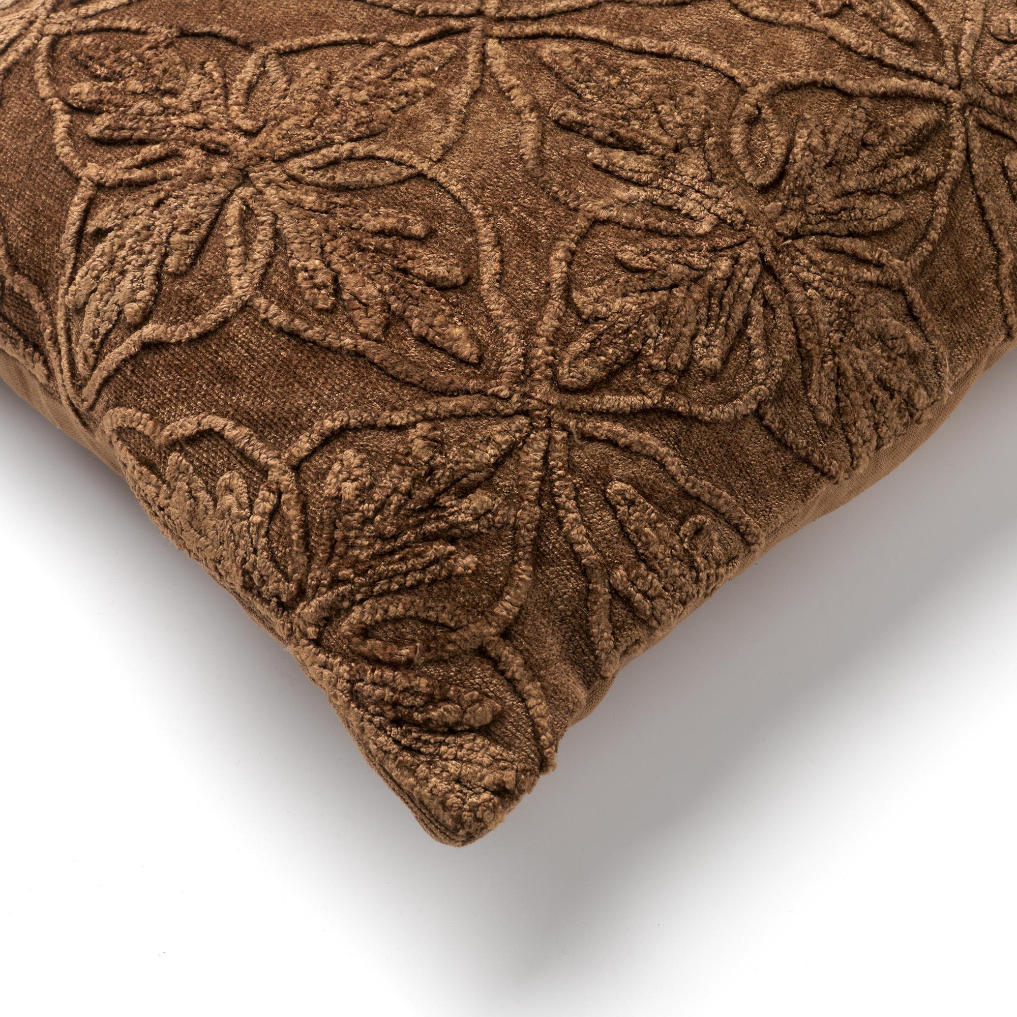 AMAR -Kussenhoes van katoen 40x60 cm Tobacco Brown