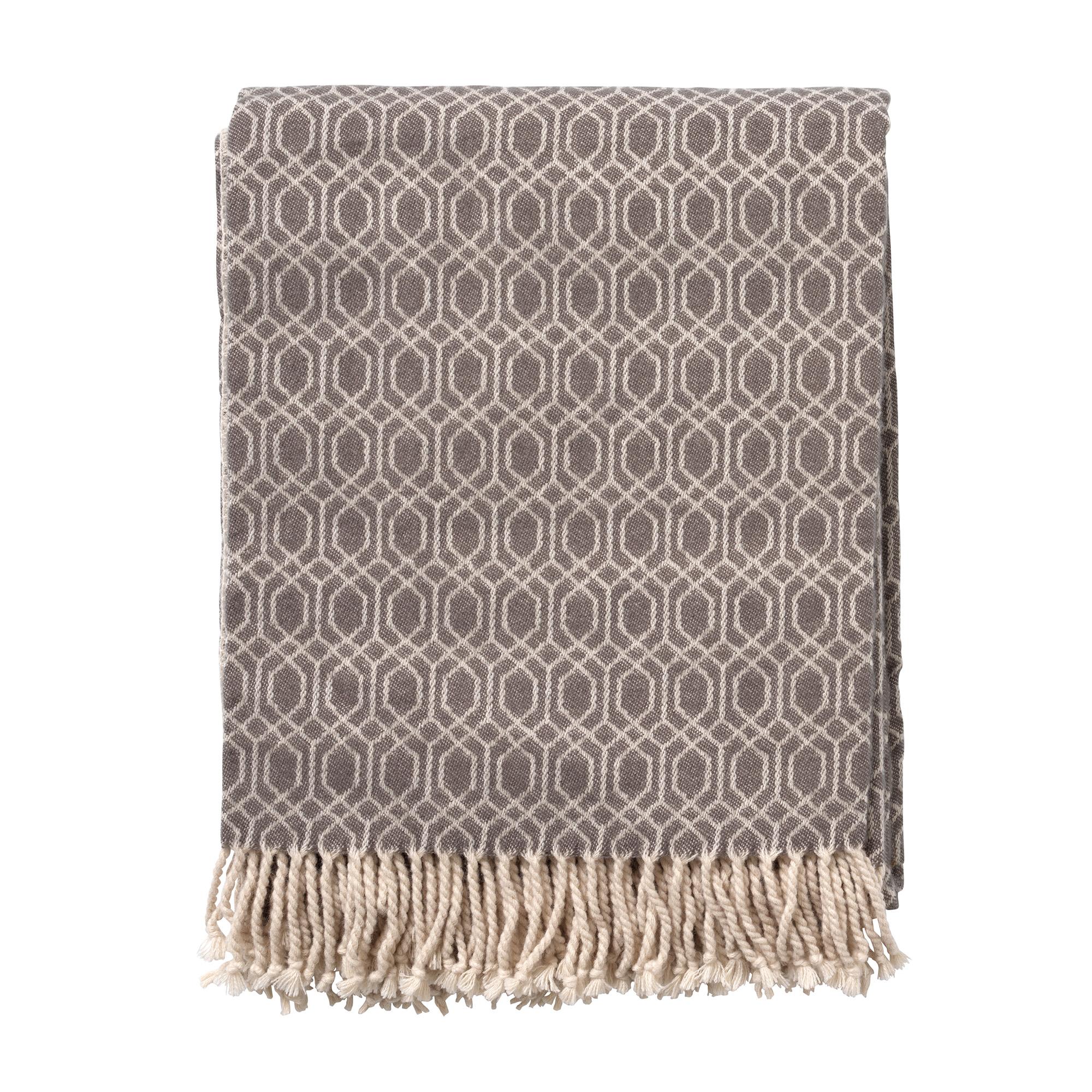 ELODIE - Plaid Charcoal Gray 140x180 cm