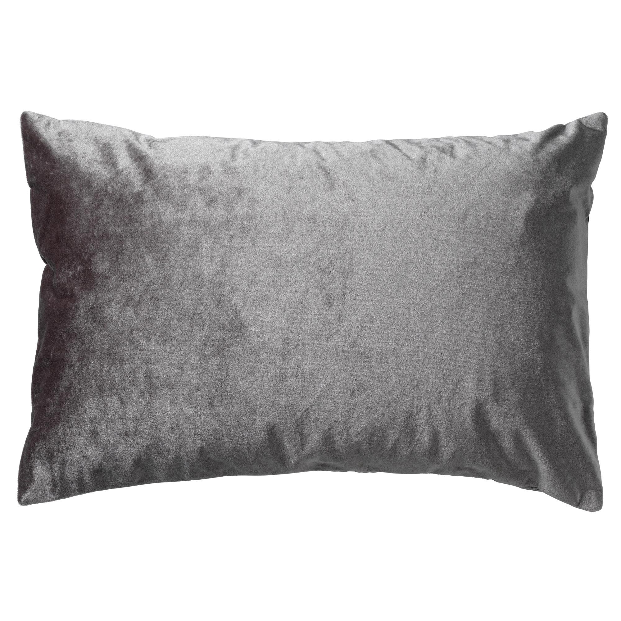 NIELS - Sierkussen velvet Charcoal Grey 40x60 cm