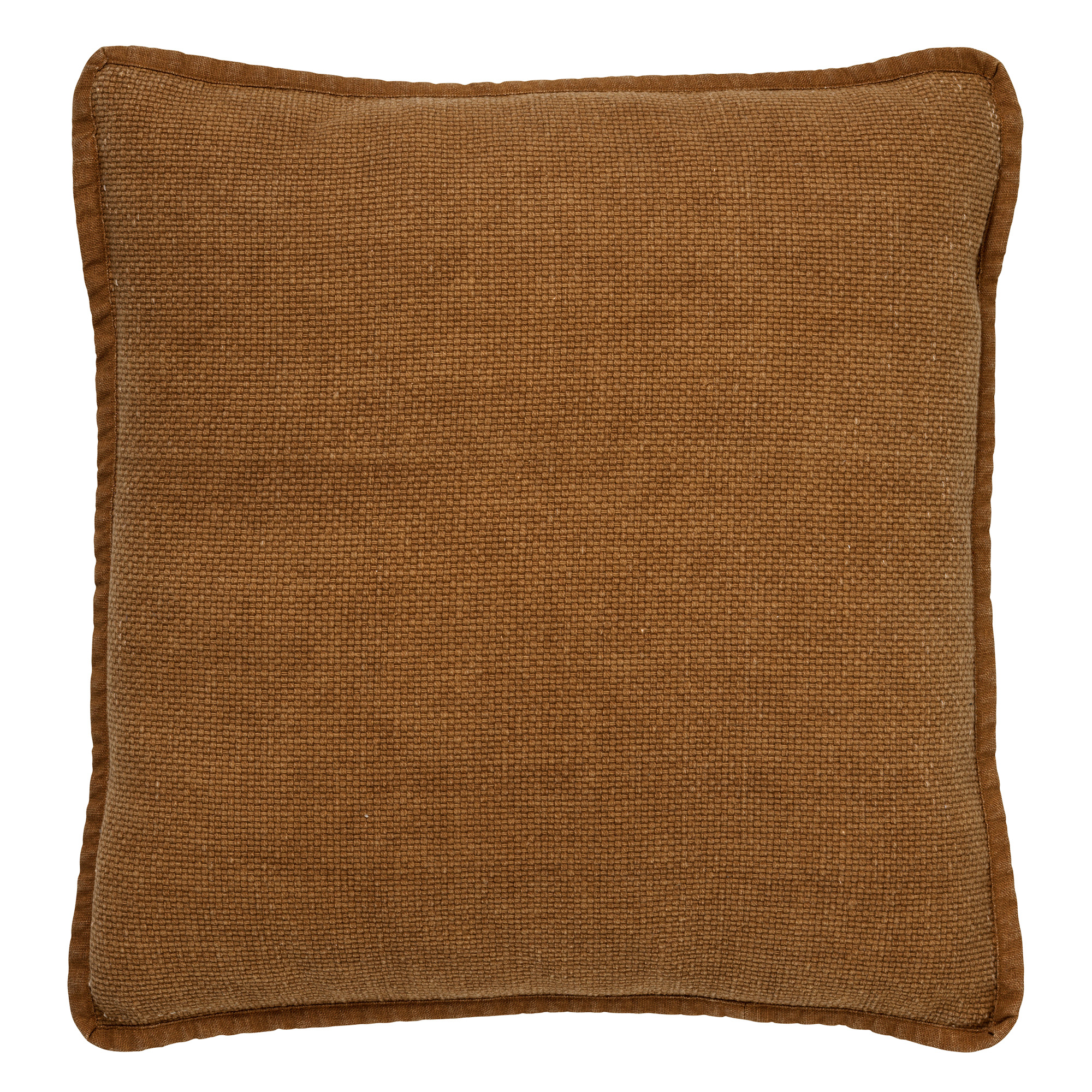 BOWIE - Sierkussen van katoen Tobacco Brown 45x45 cm