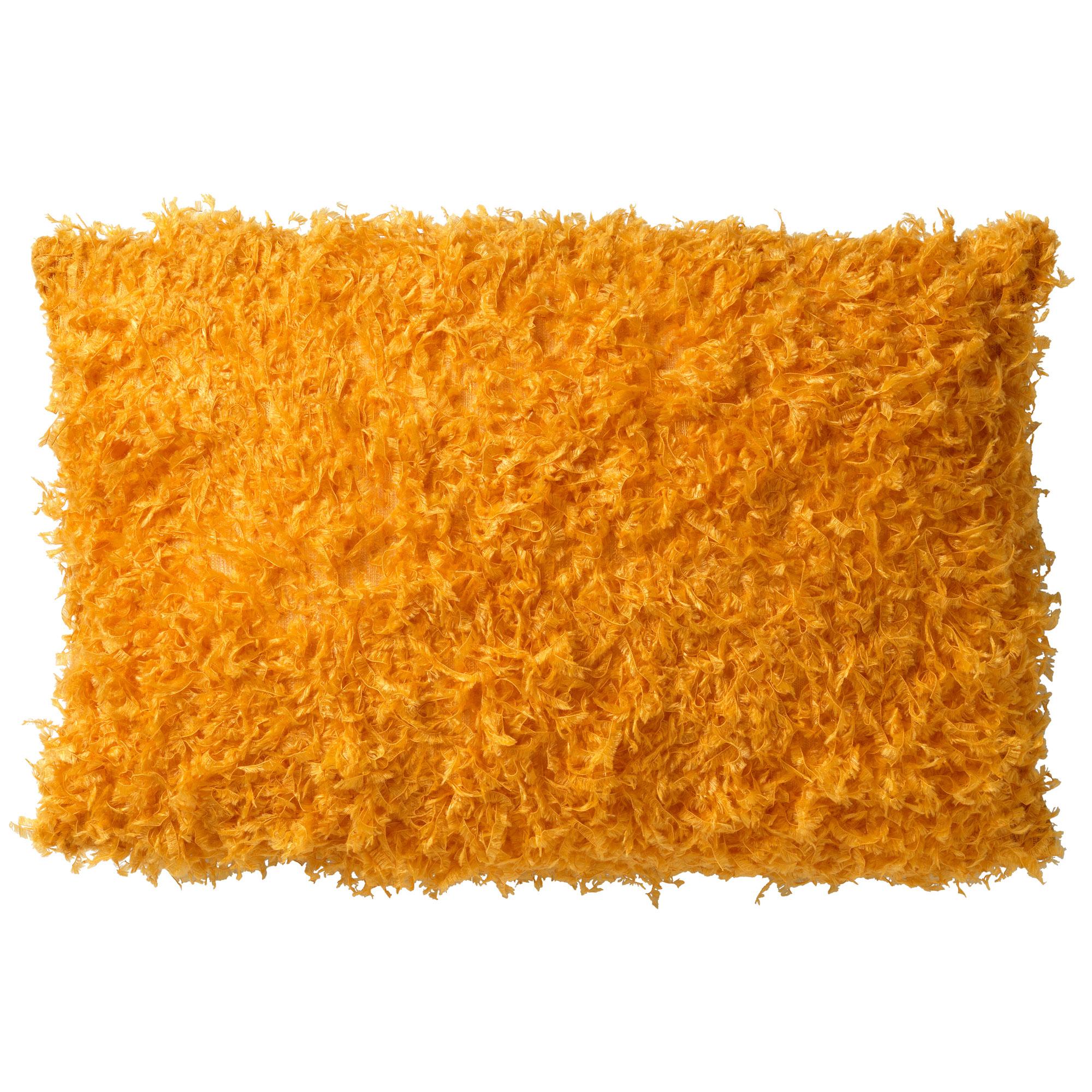 VEERA - Sierkussen met imitatiebont Golden Glow 30x50 cm