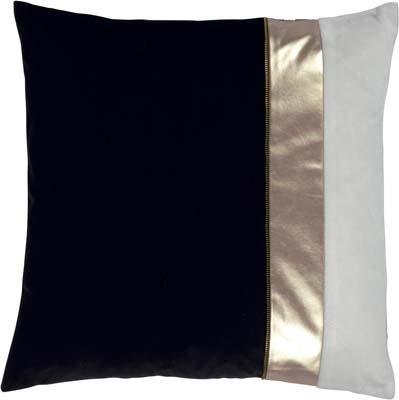 MARJON - Kussenhoes zwart wit goud 50x50 cm