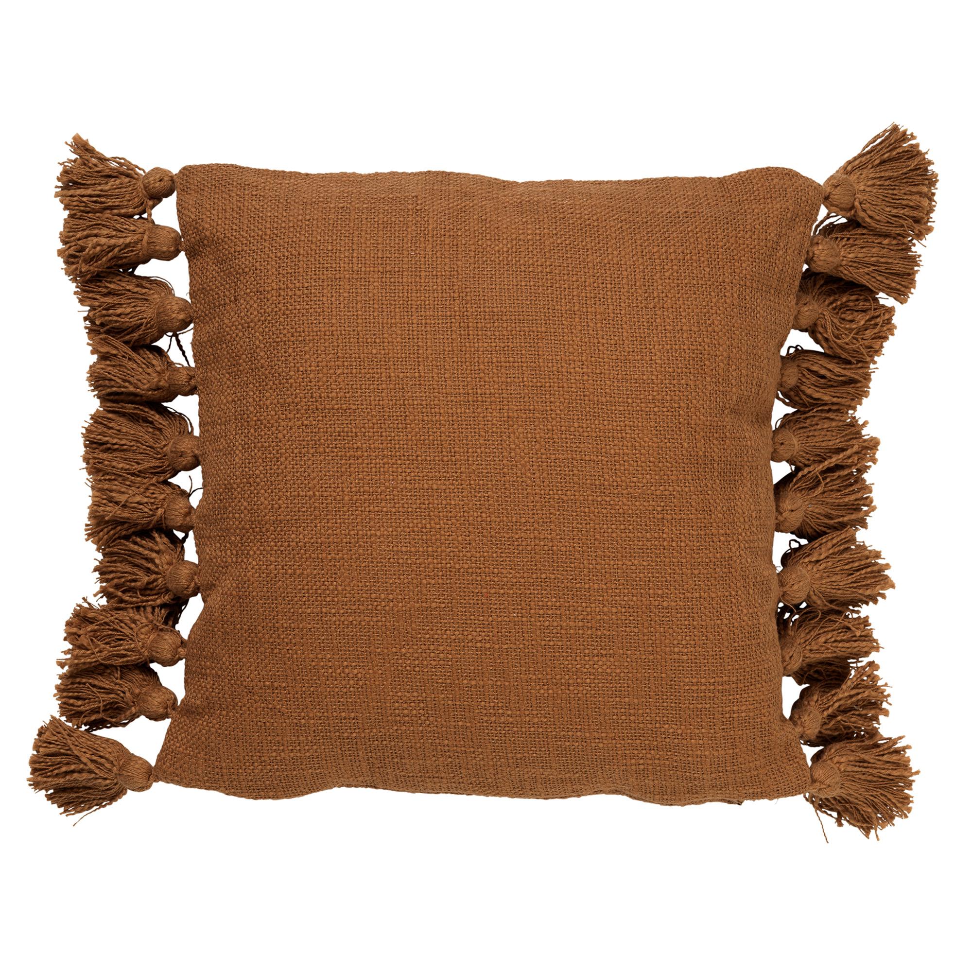 RUBY - Sierkussen van katoen Tobacco Brown 45x45 cm