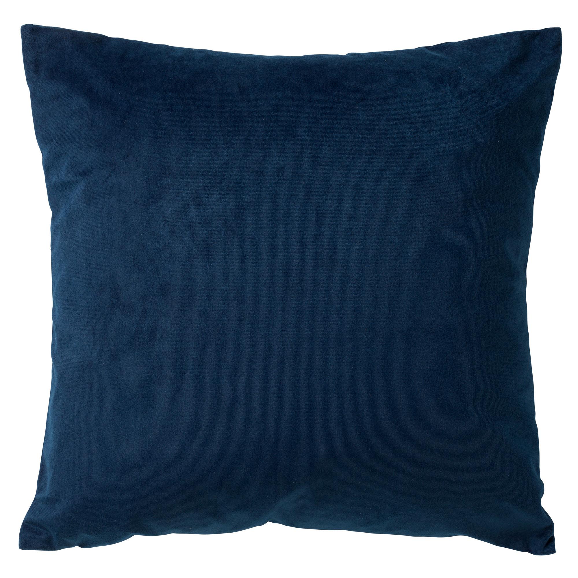 PHILLY - Sierkussen velvet Insignia Blue 45x45 cm