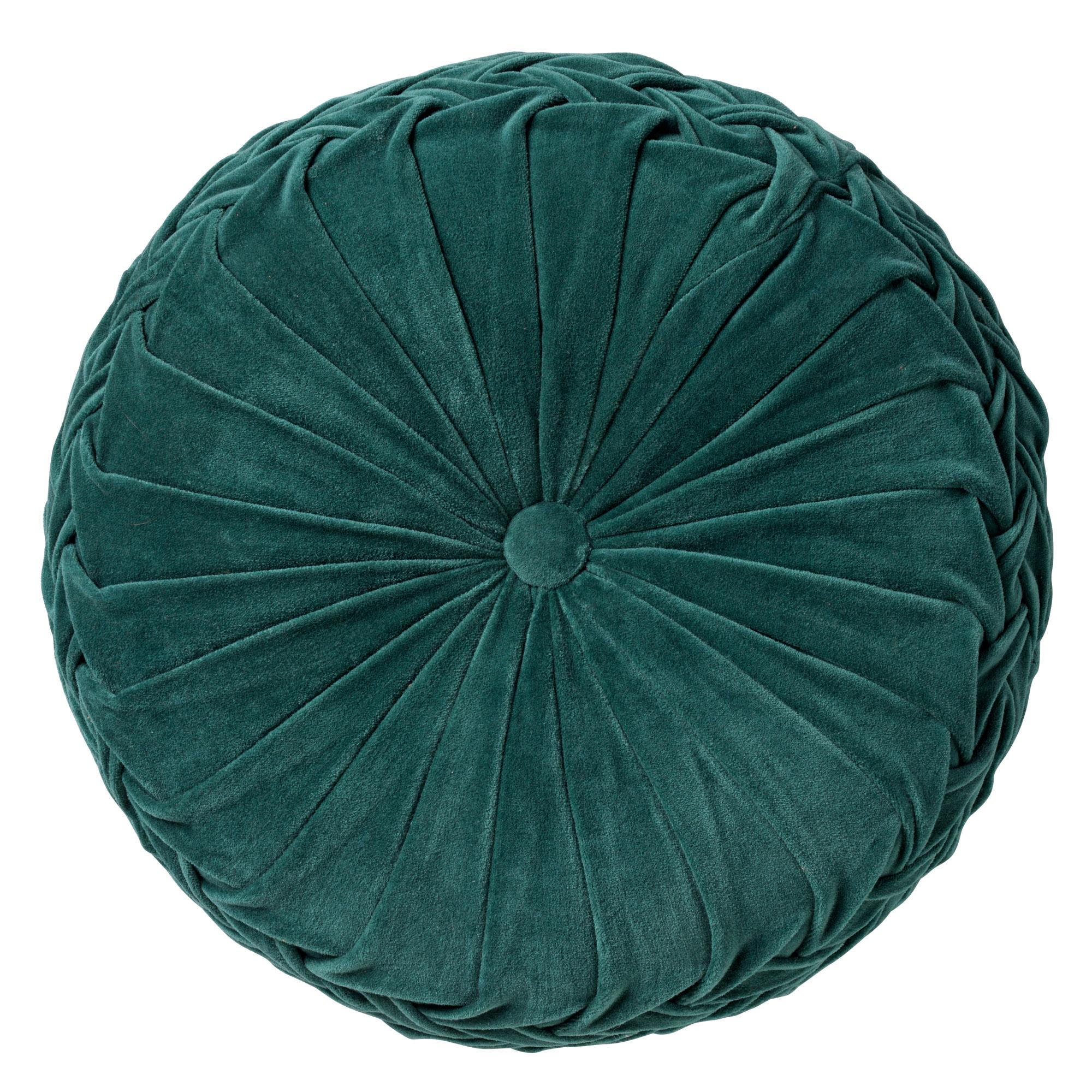 KAJA - Sierkussen rond velvet Sagebrush Green 40 cm
