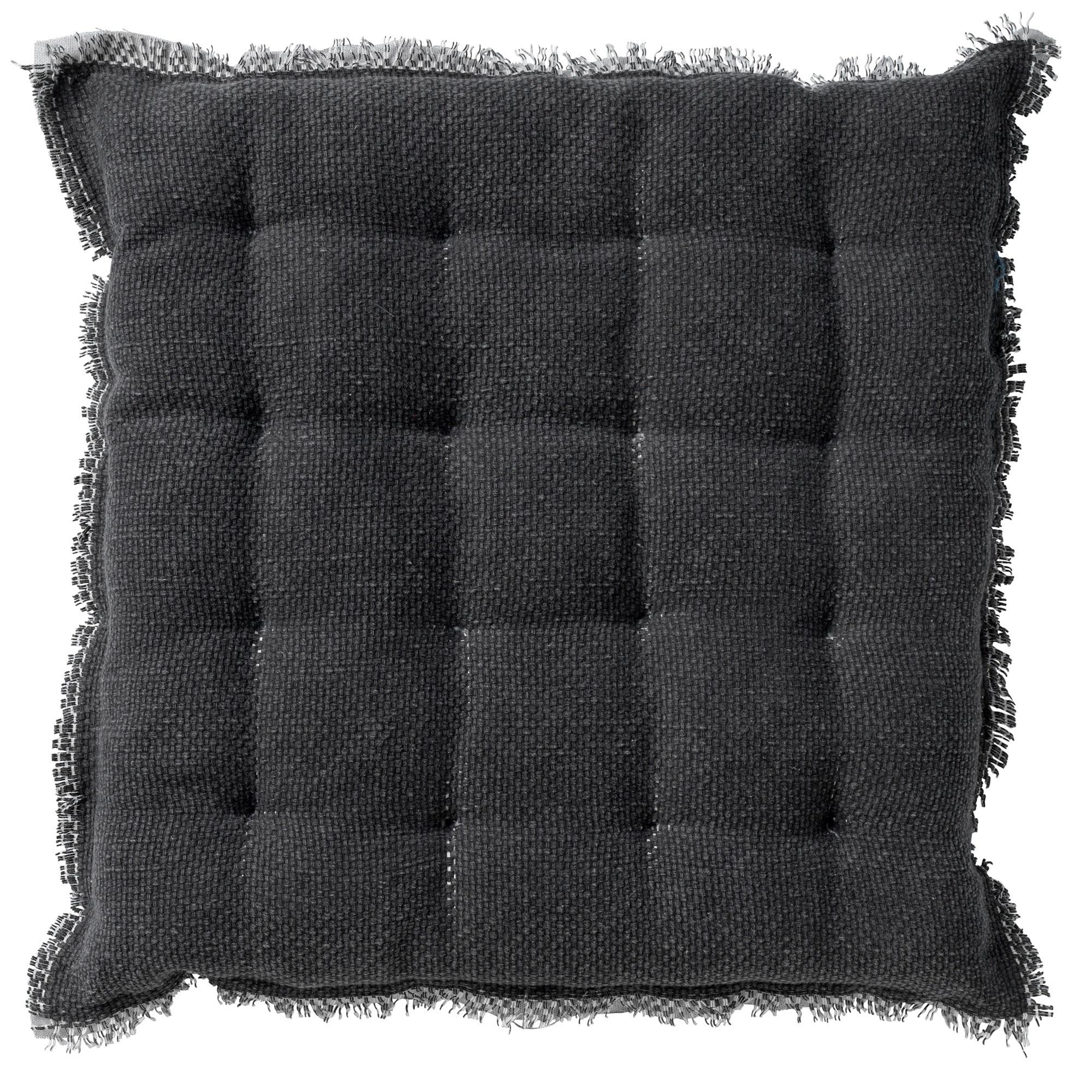 BURTO - Stoelkussen van katoen Charcoal Grey 40x40 cm