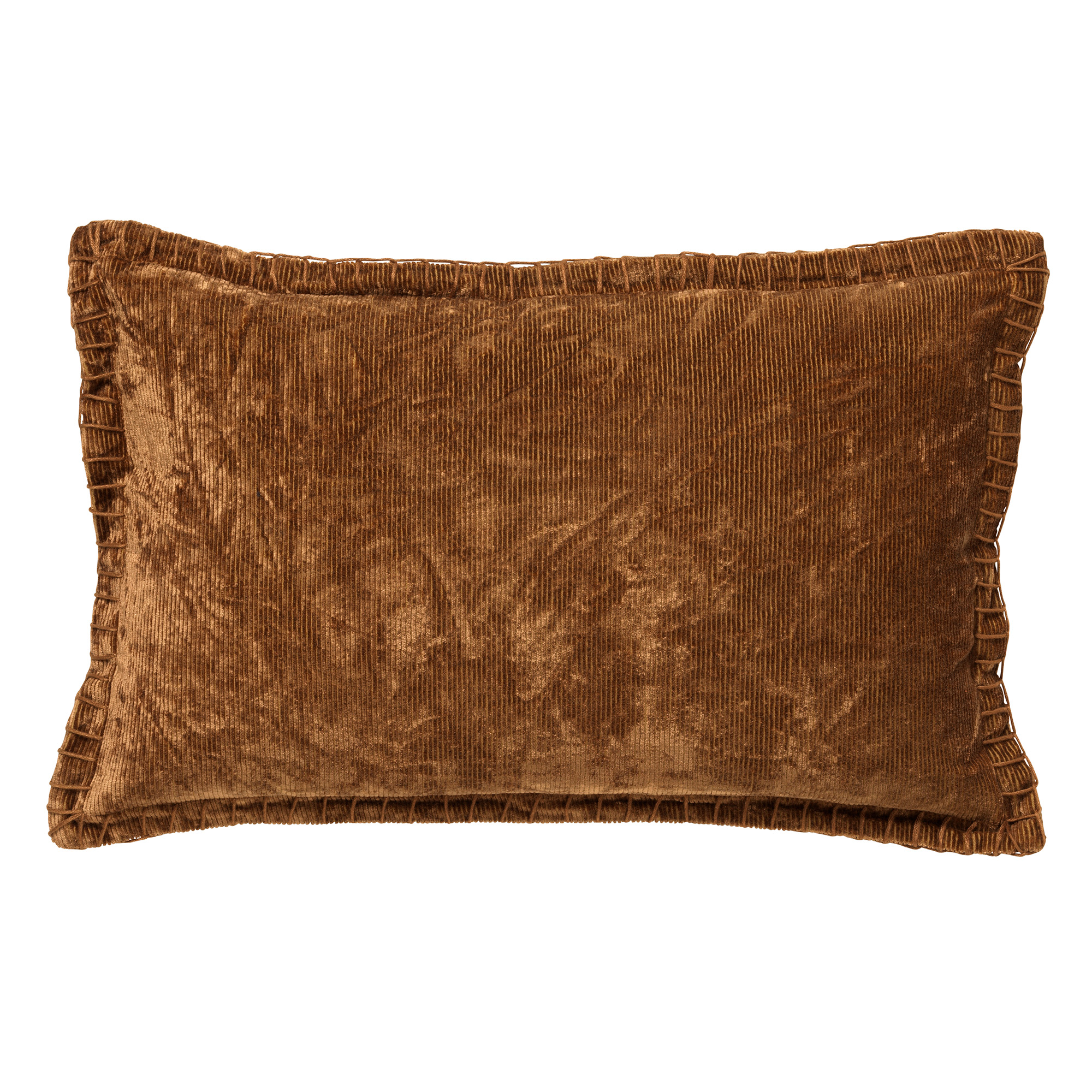 REBEL - Kussenhoes velvet 30x50 cm Tobacco Brown