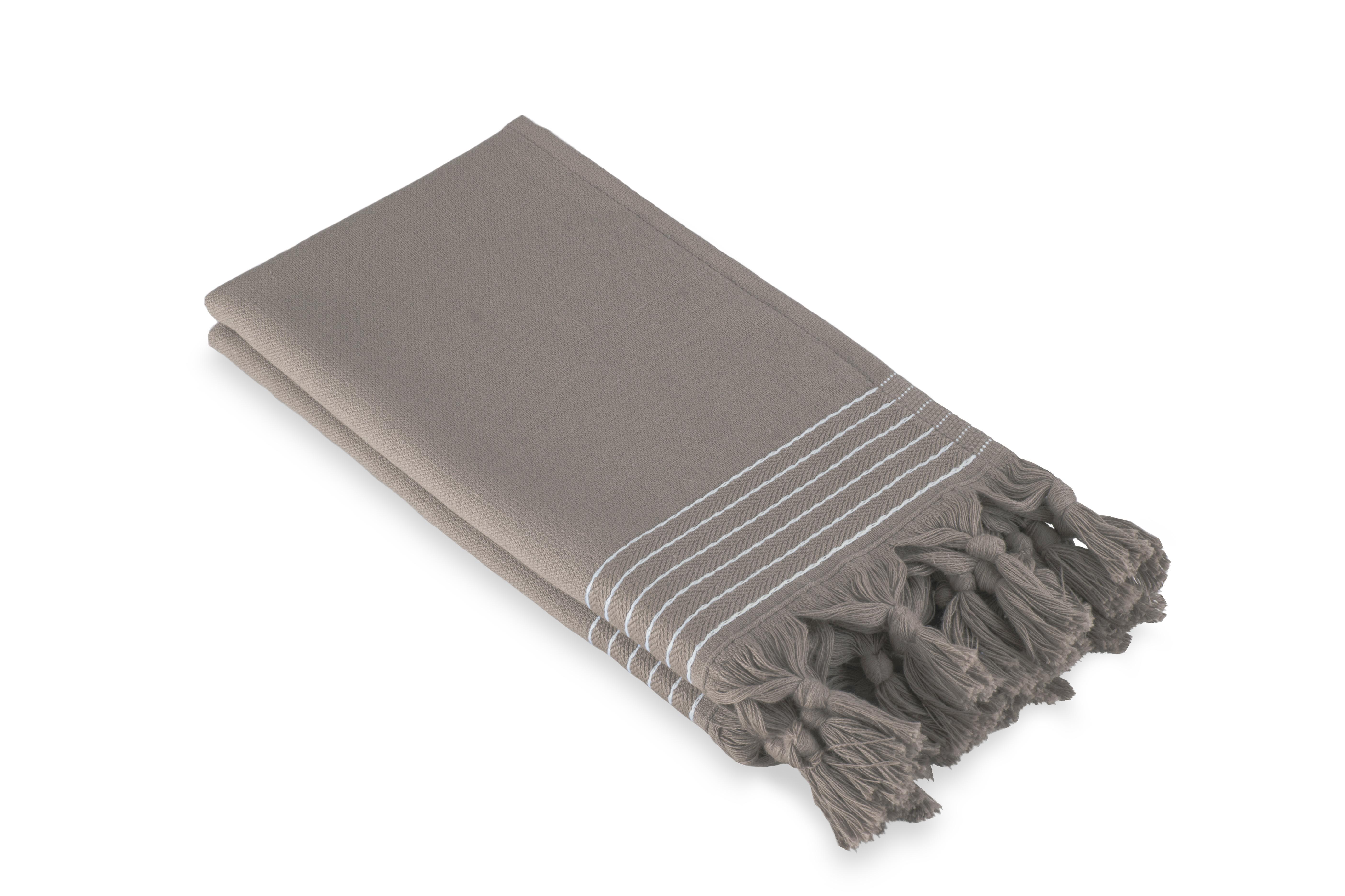 Gastendoek Walra Soft Katoen Hamam (30x50) Taupe - Set van 2