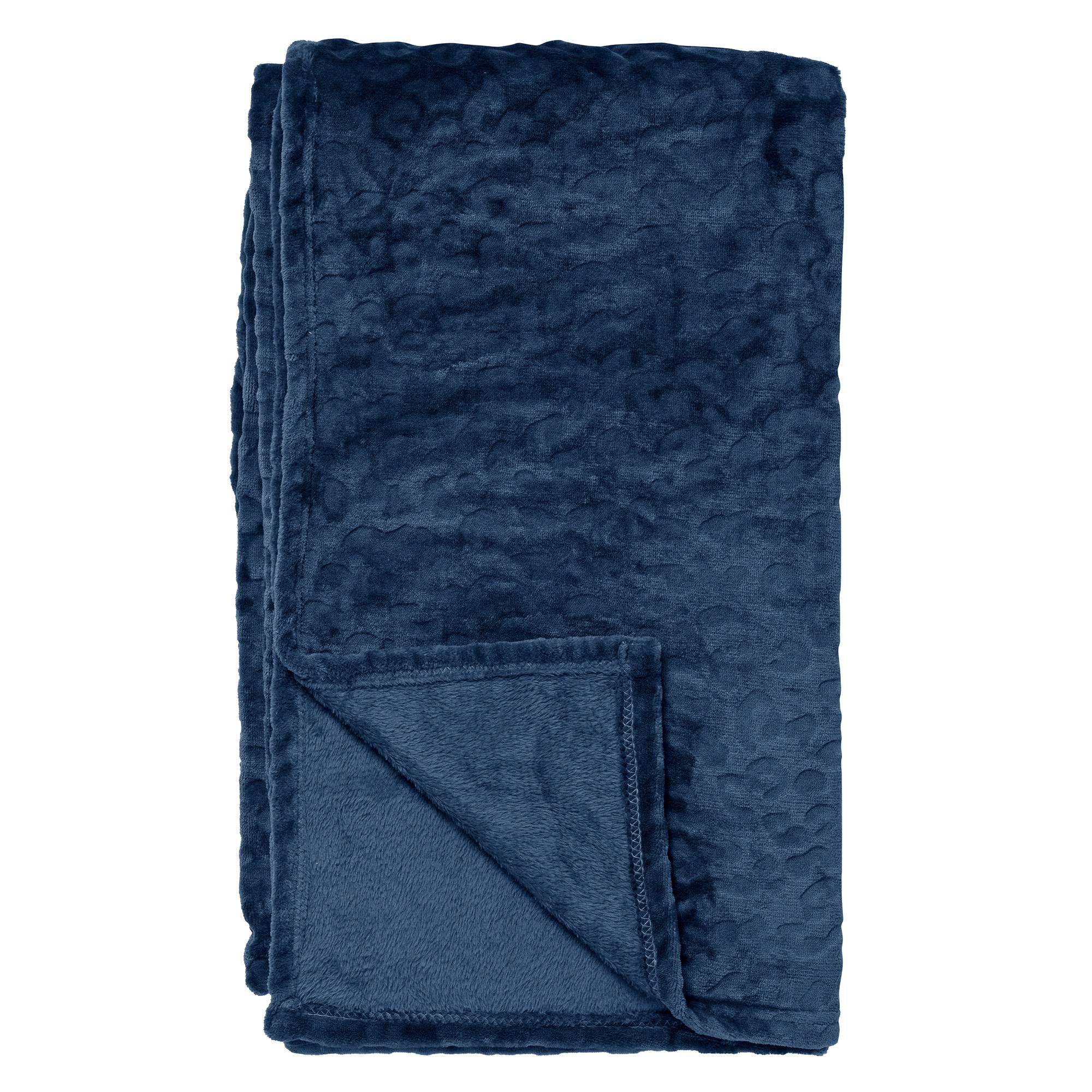 CHESTER - Plaid van fleece 150x200 cm Insignia Blue