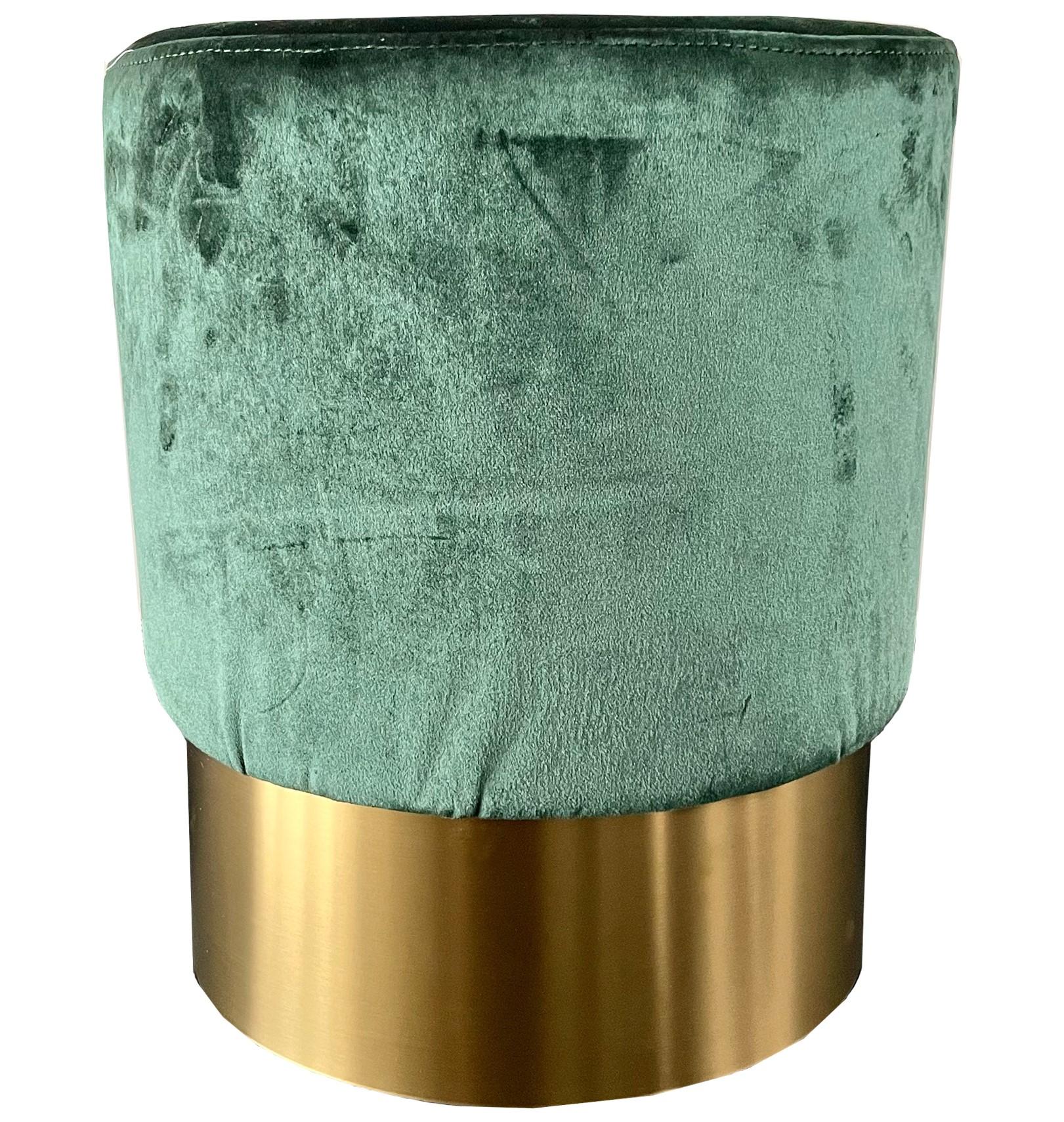 MARIAN - Poef groen 36x36x44 cm