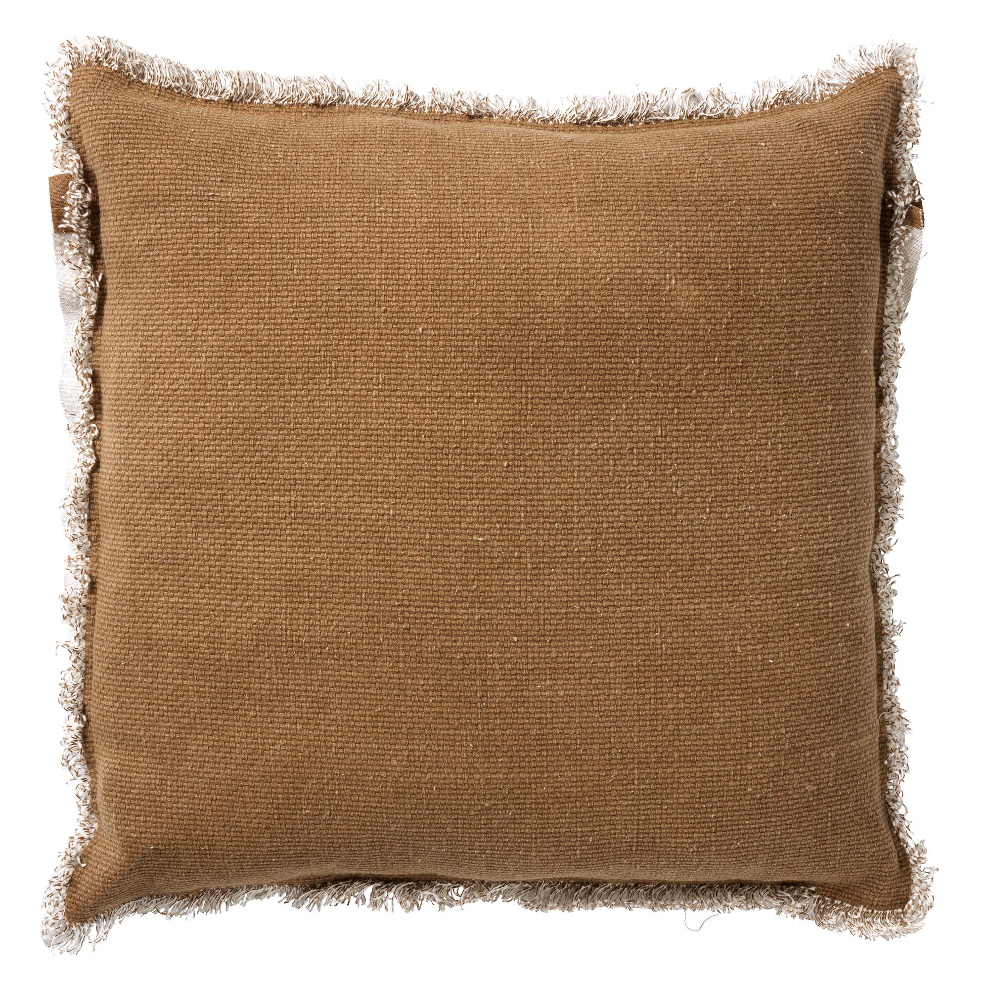 BURTO - Sierkussen van katoen Tobacco brown 45x45 cm