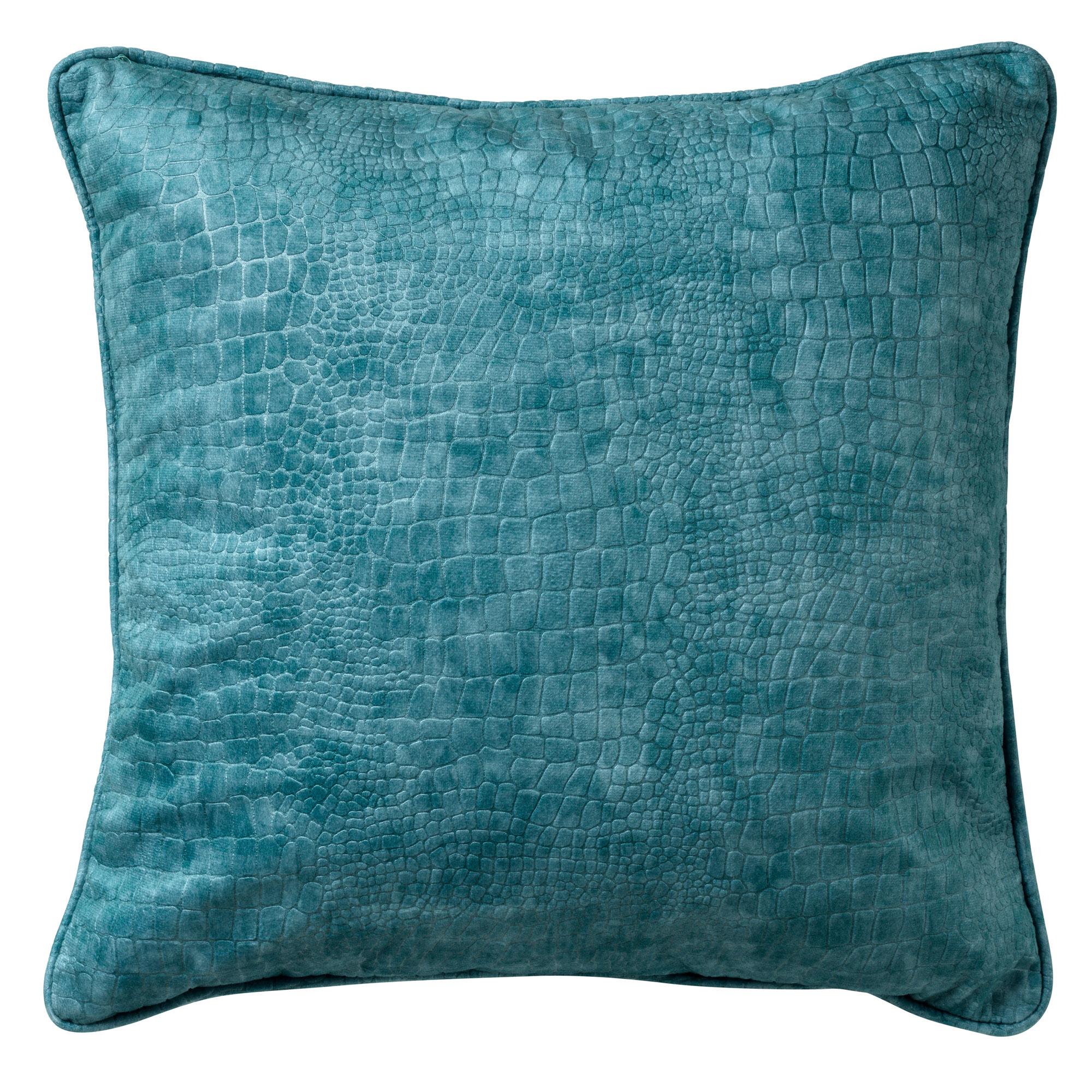 SAMMY - Sierkussen met patroon Nile Blue 45x45 cm