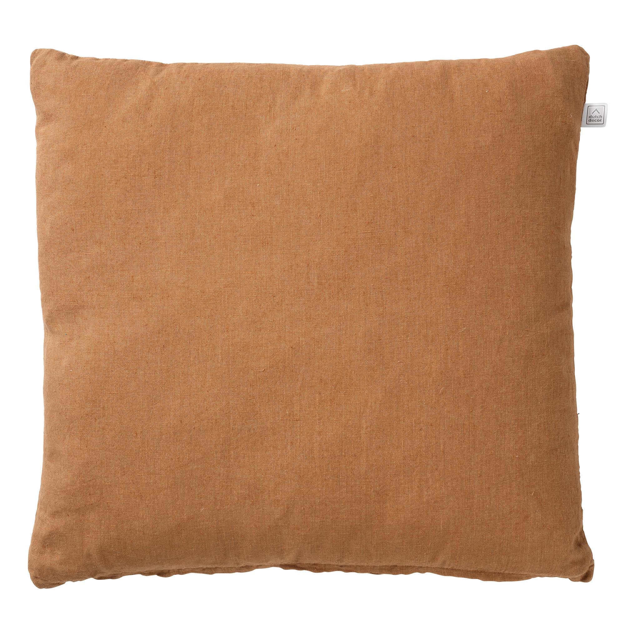 LINN - Sierkussen linnen Tobacco Brown 45x45 cm