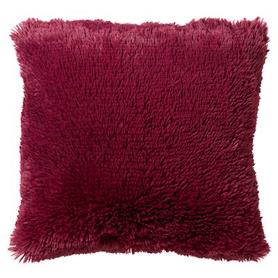 FLUFFY - Sierkussen unikleur Red Plum 45x45 cm