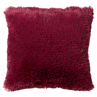 FLUFFY - Sierkussen met imitatiebont Red Plum 45x45 cm