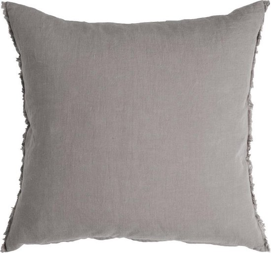 CASUAL LINEN - Walra Sierkussen van linnen grijs 45x45 cm