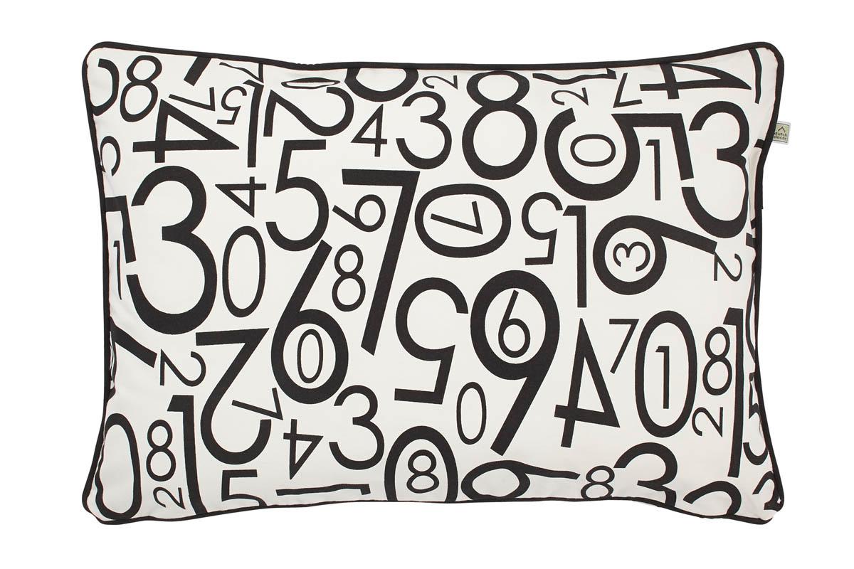 FIGURES - Sierkussen met nummers ivoor 40x60 cm