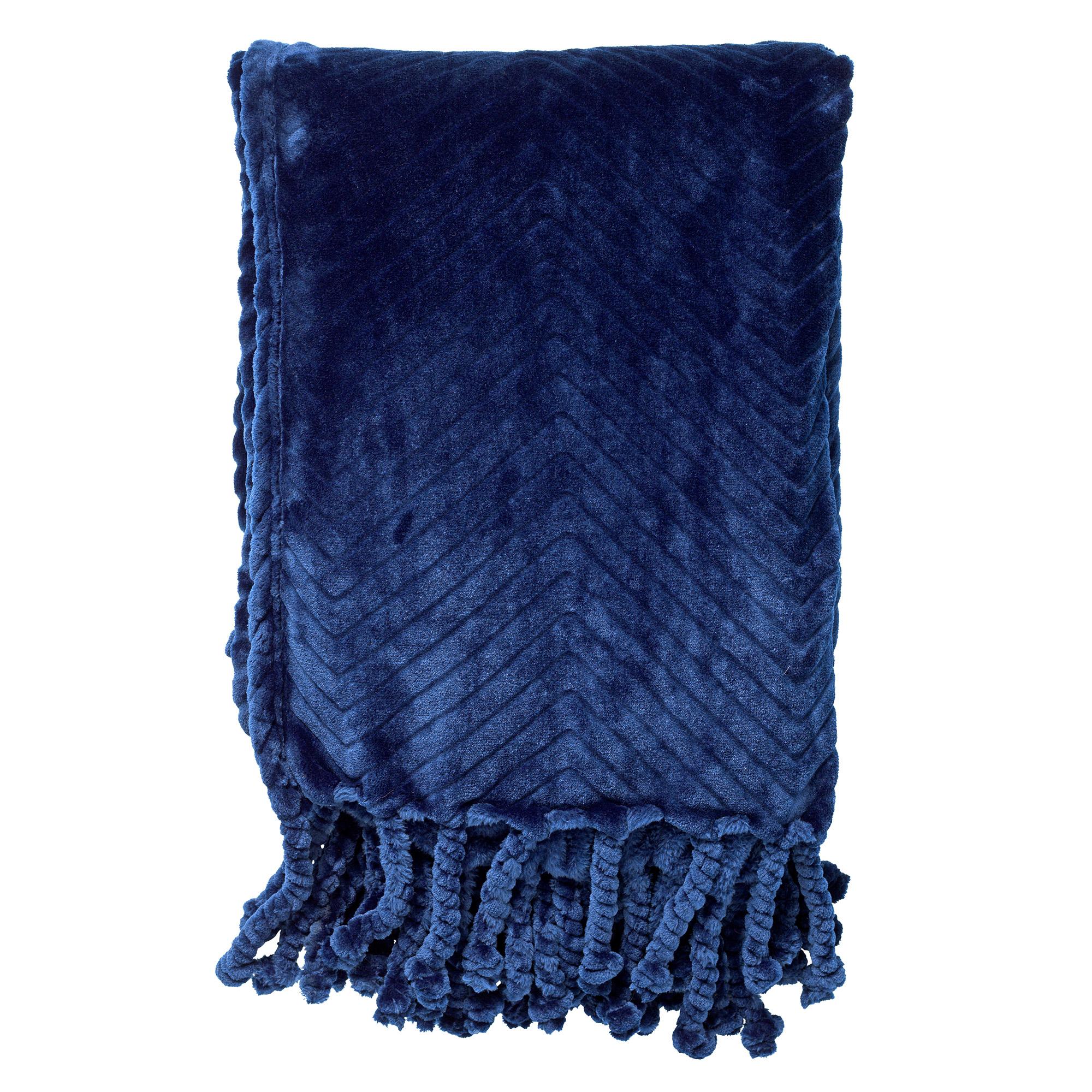 ZIGGY - Plaid van fleece 140x180 cm Insignia Blue