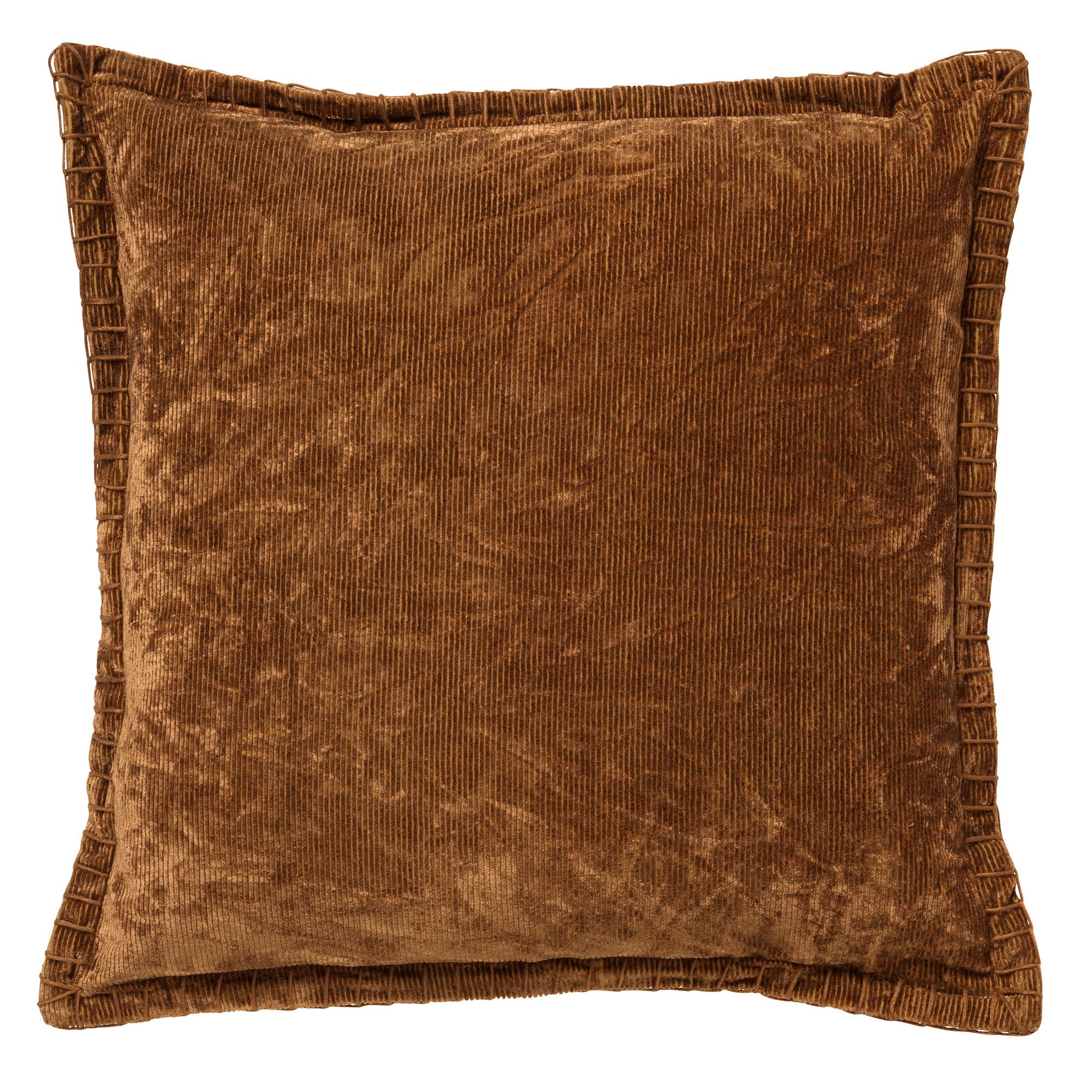 REBEL - Sierkussen velvet 45x45 cm Tobacco Brown
