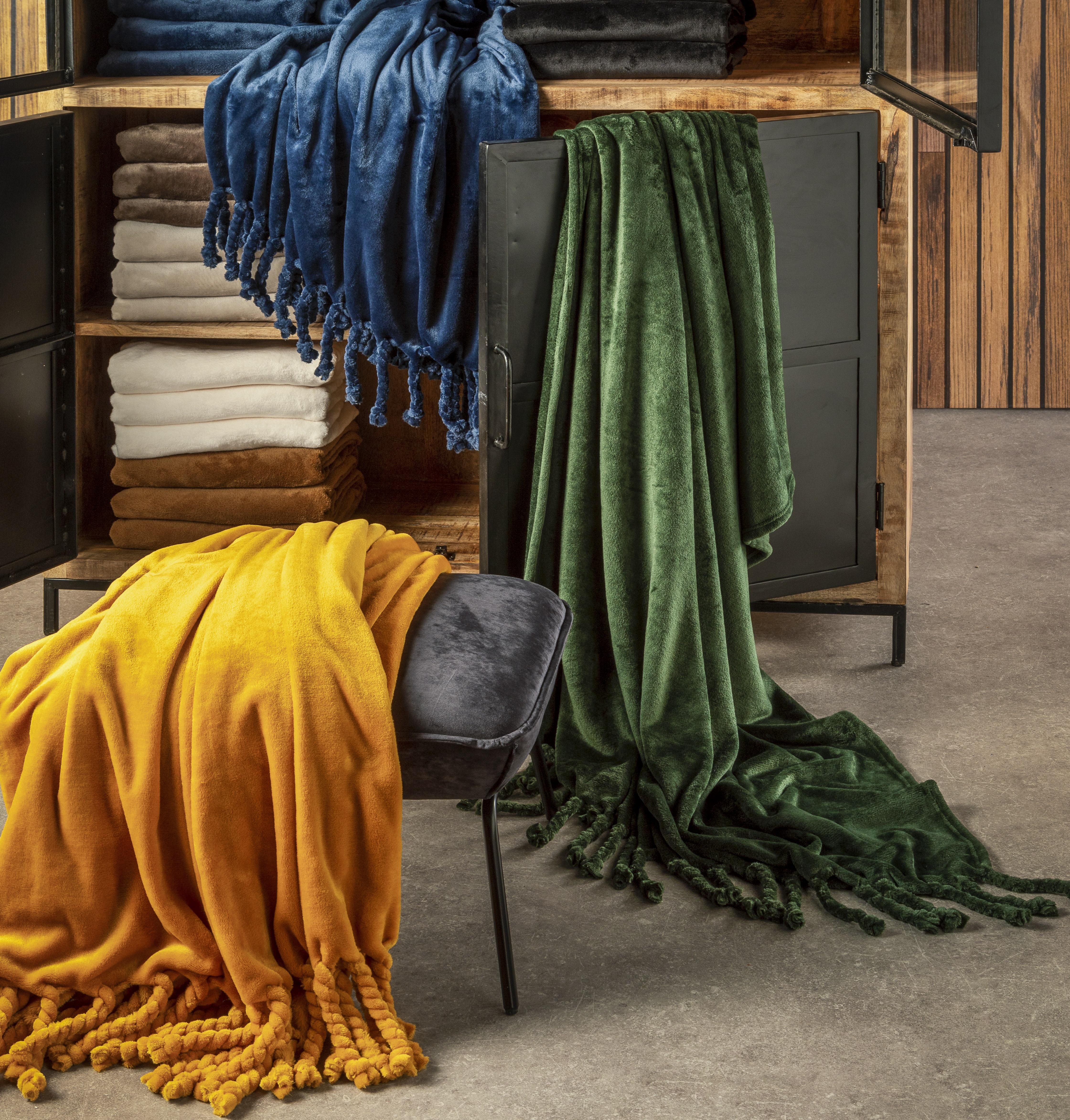 FLORIJN - Plaid van fleece 150x200 cm Insignia Blue