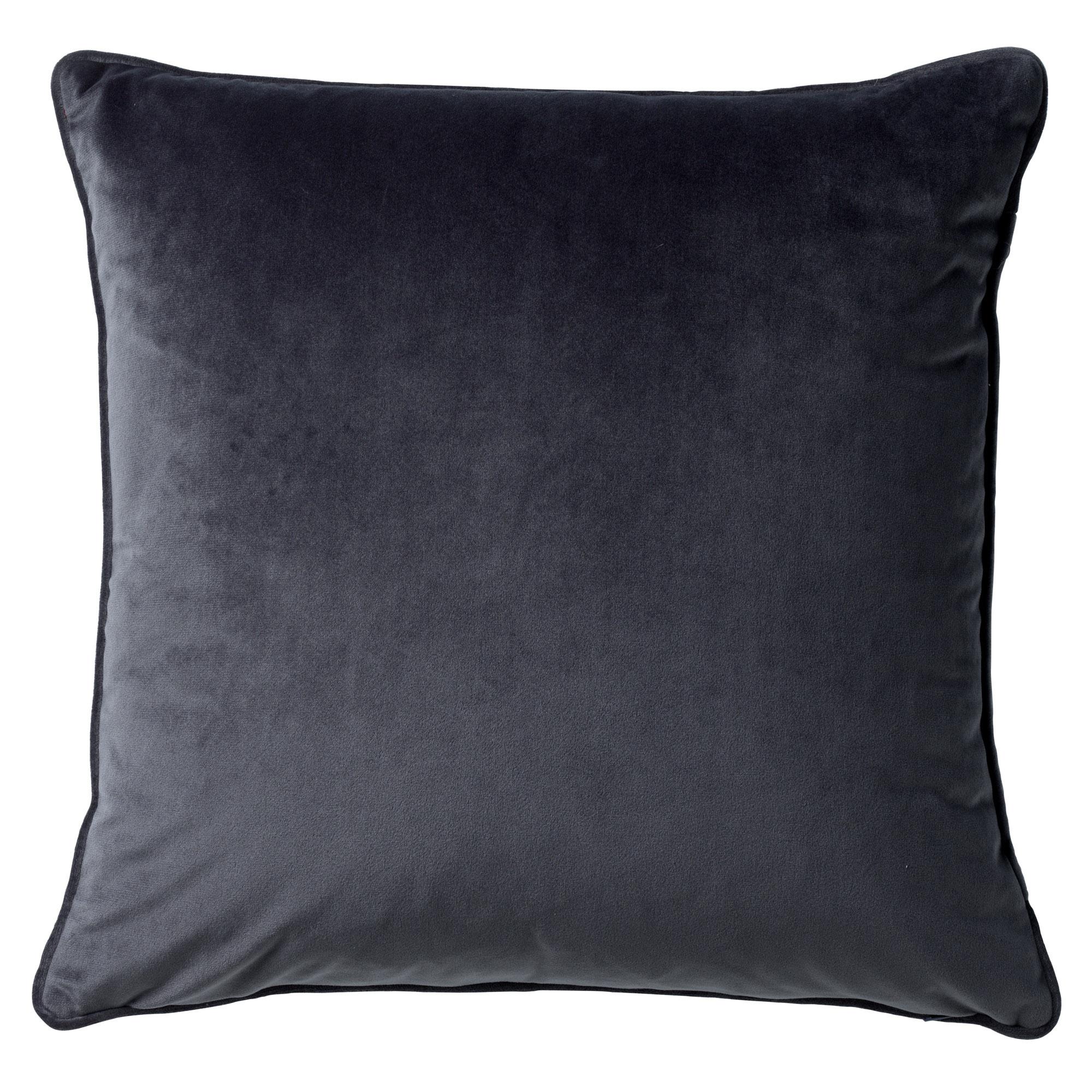 FINN - Sierkussen velvet Charcoal Grey 45x45 cm