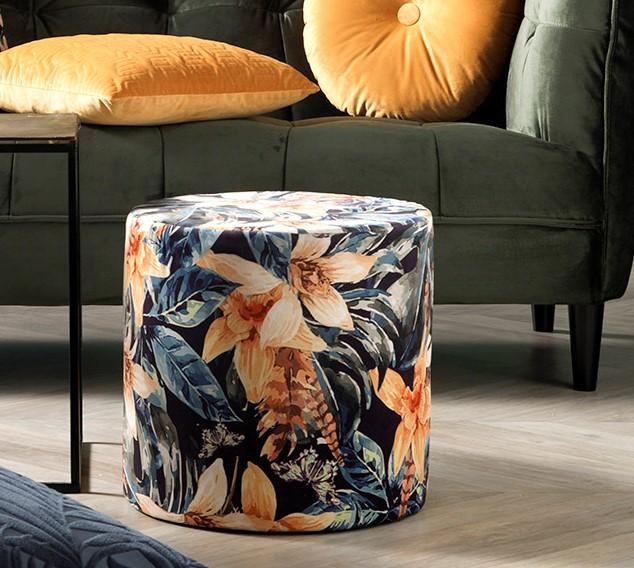 JANSKE - Poef blauw 40x40x40 cm