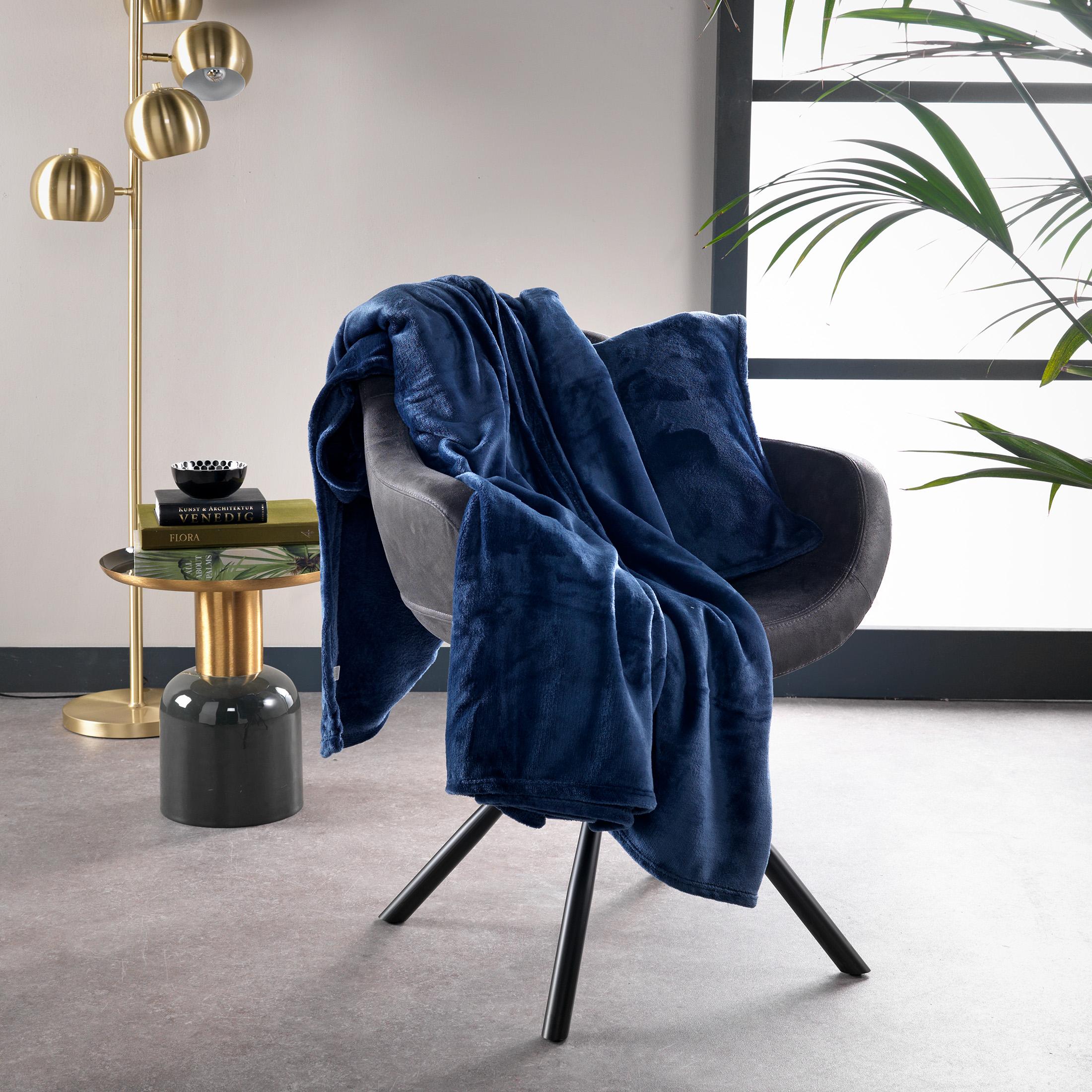 BILLY - Plaid Insignia Blue 150x200 cm