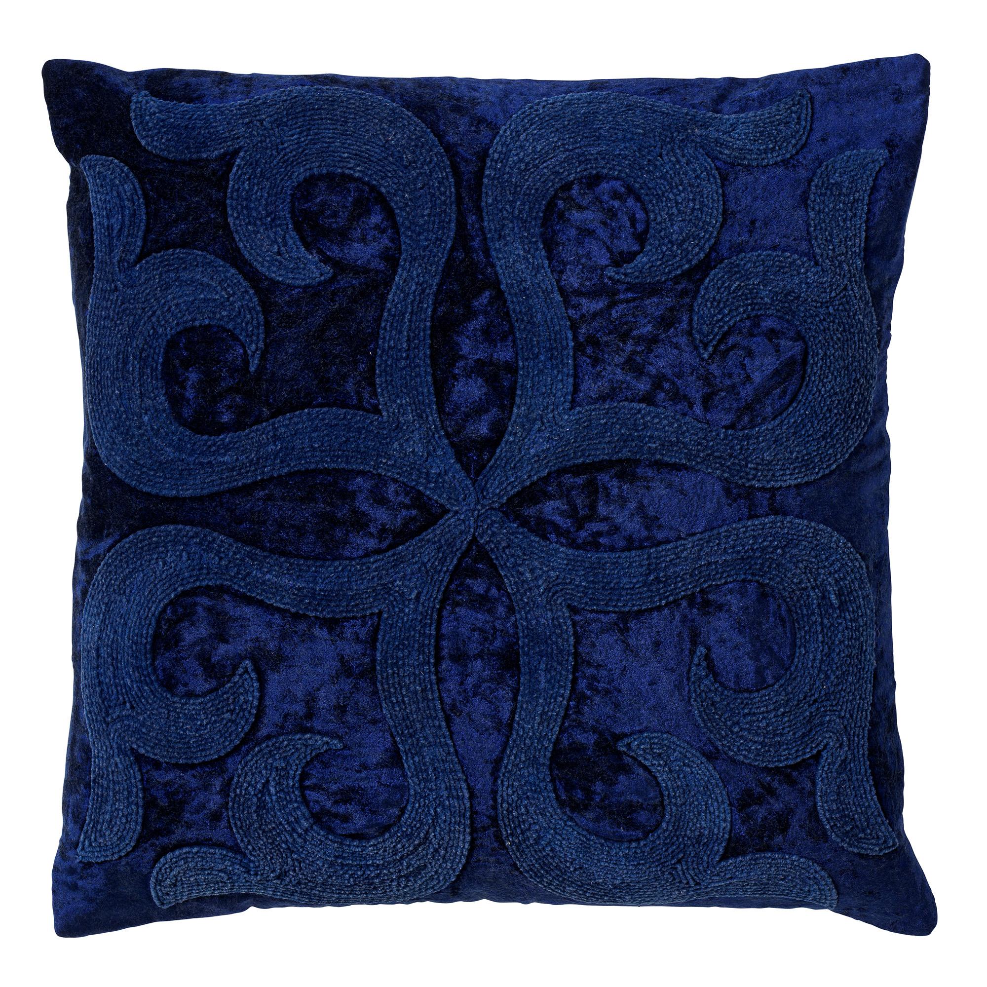 AVALON - Sierkussen velvet 45x45 cm Insignia Blue