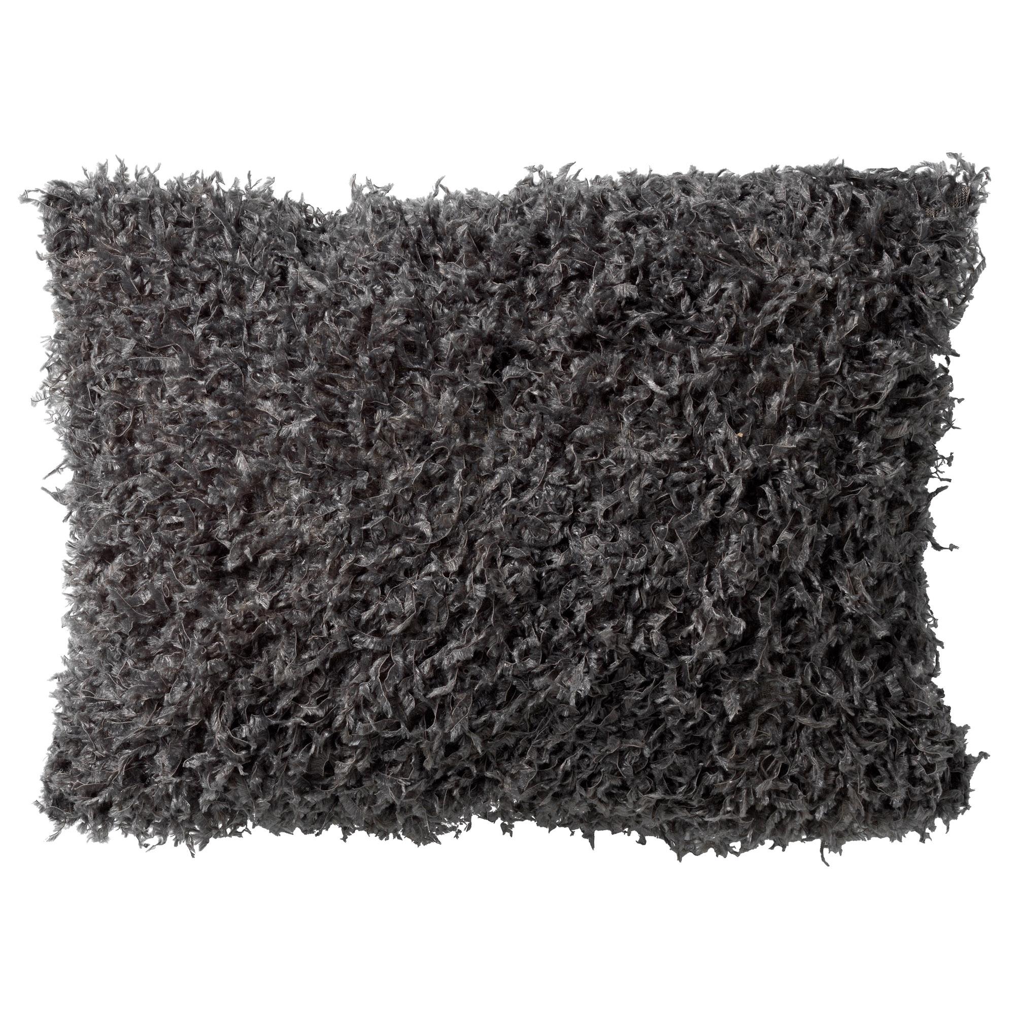 VEERA - Sierkussen met imitatiebont Charcoal Grey 30x50 cm