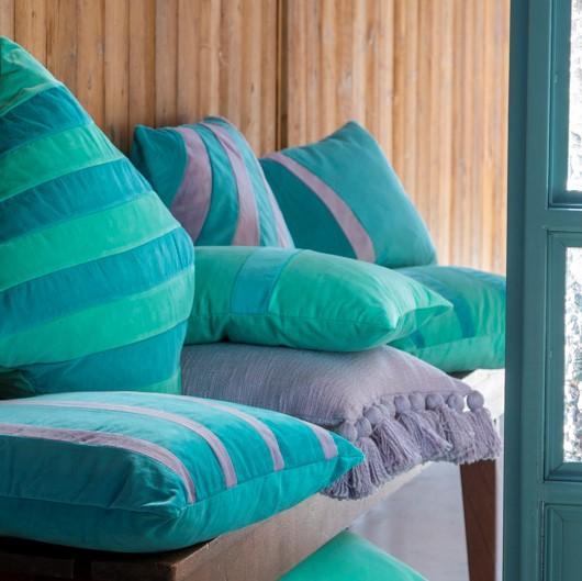 PEBBE - Sierkussen velvet Aquarelle 45x45 cm