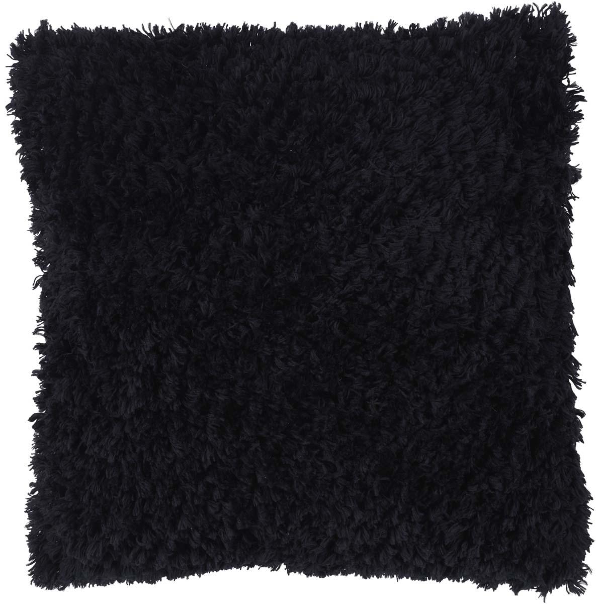 GLENN - Sierkussen zwart 45x45 cm