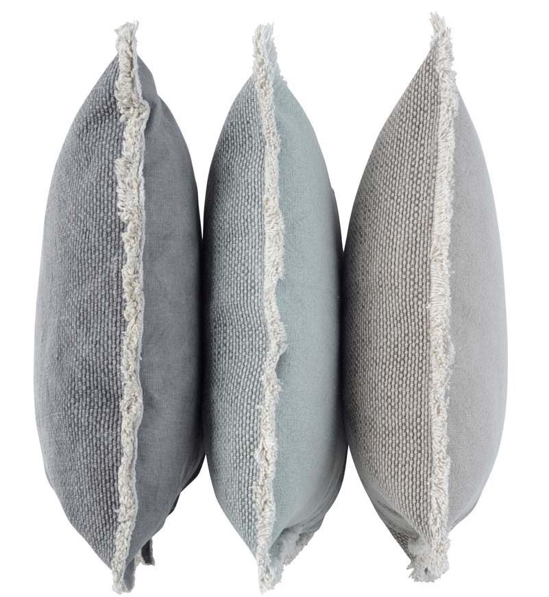 NOOR - Walra sierkussen van katoen zand 50x50 cm + verenvulling