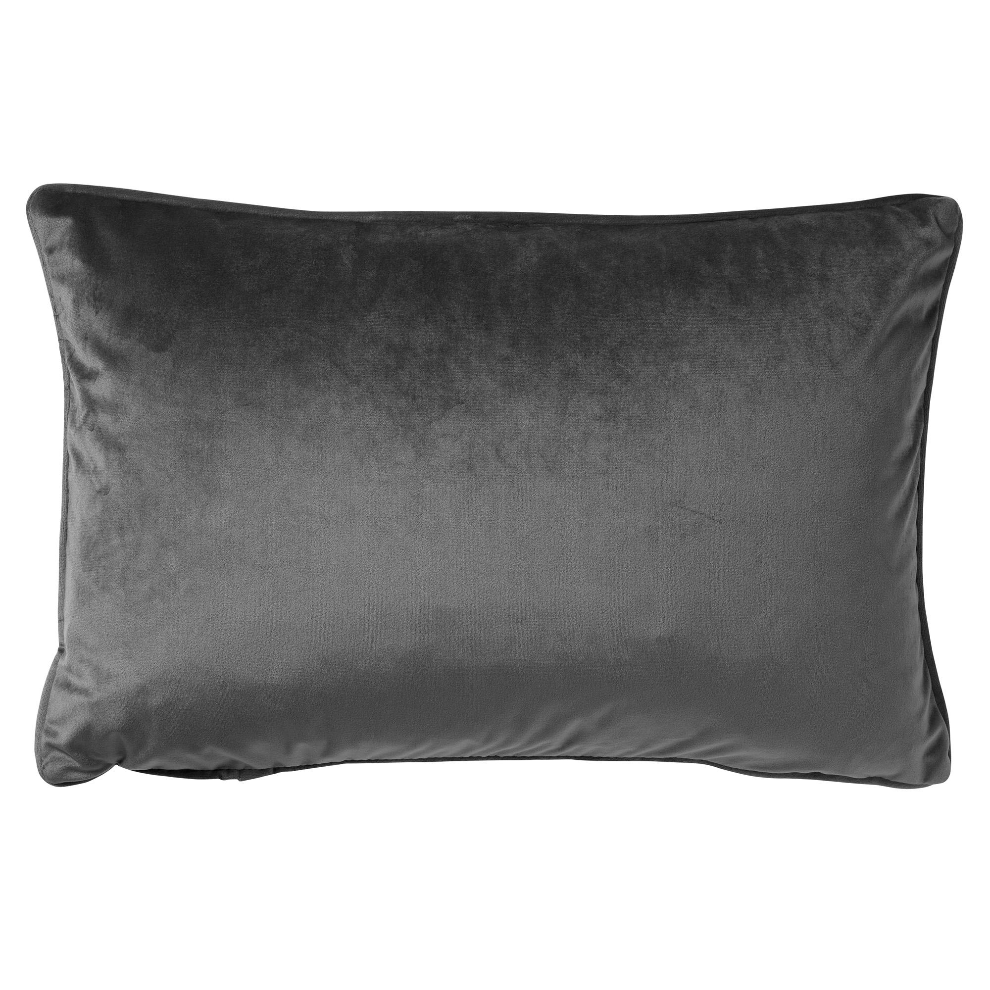 FINN - Sierkussen velvet Charcoal Grey 40x60 cm
