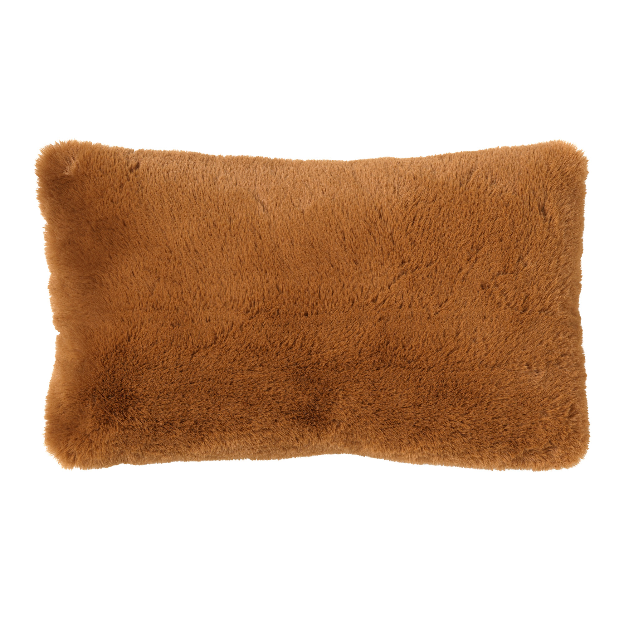 ZAYA - Kussenhoes unikleur 30x50 cm Tobacco Brown