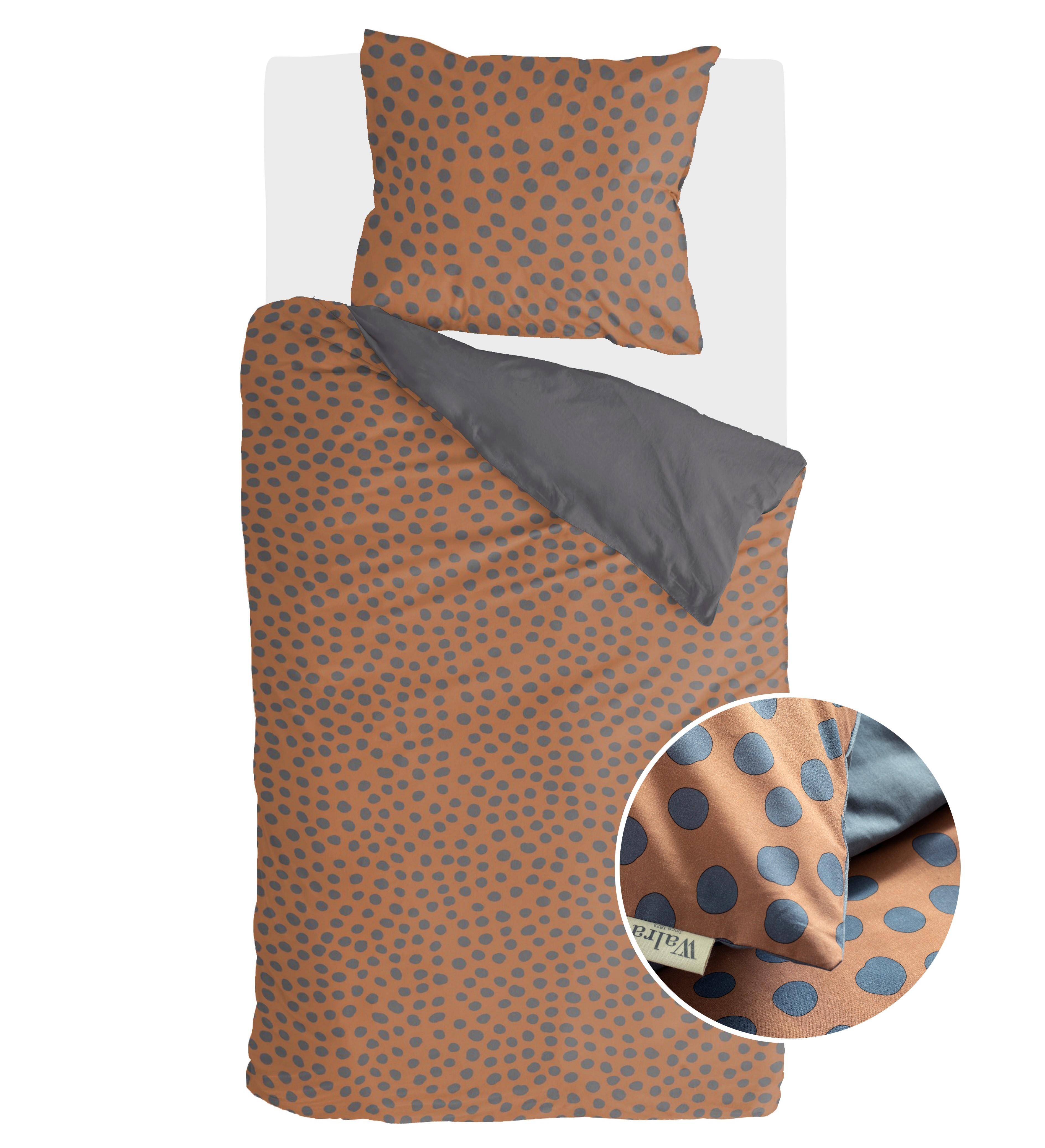 Dekbedovertrek Walra Spots & Dots 140x220 cm Cognac 1-persoons