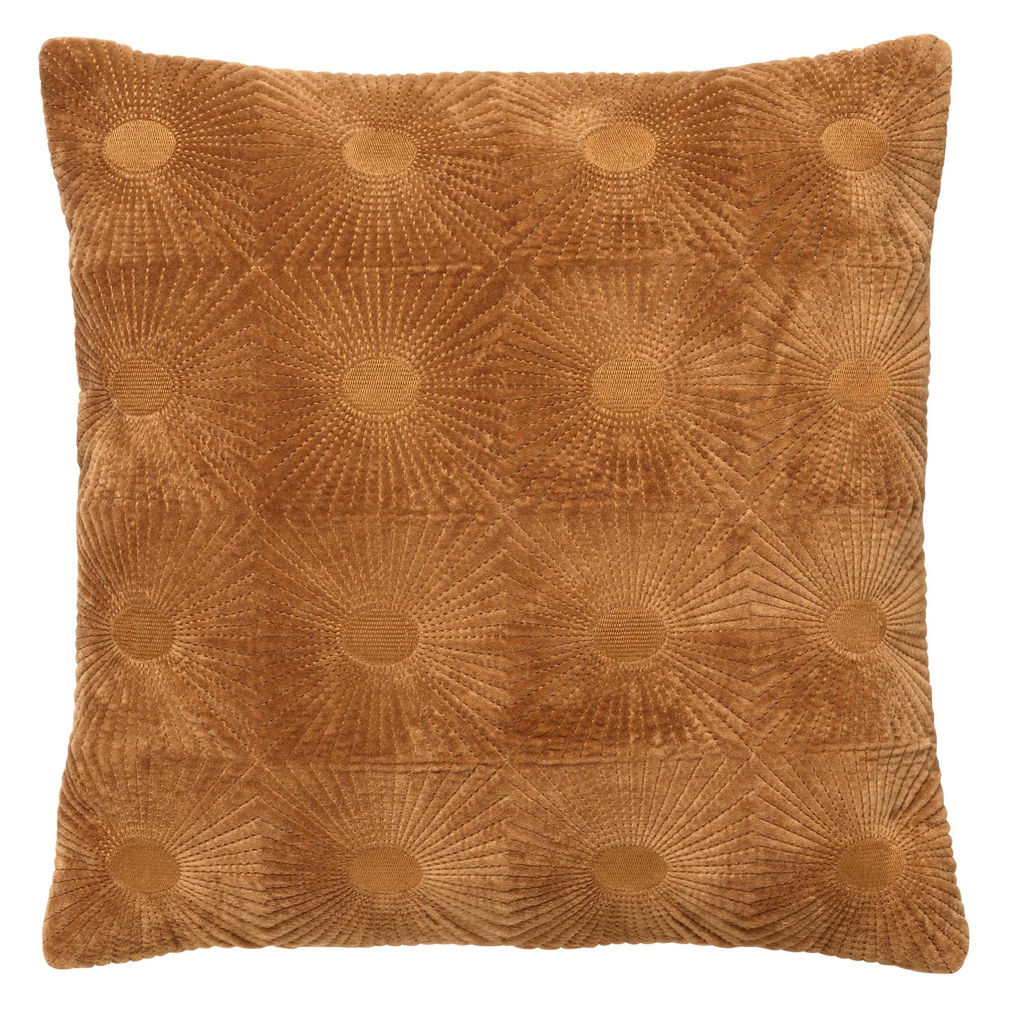 SUN - Kussenhoes van katoen 45x45 cm Tobacco Brown