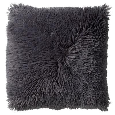 FLUFFY - Sierkussen unikleur Charcoal Grey 60x60 cm