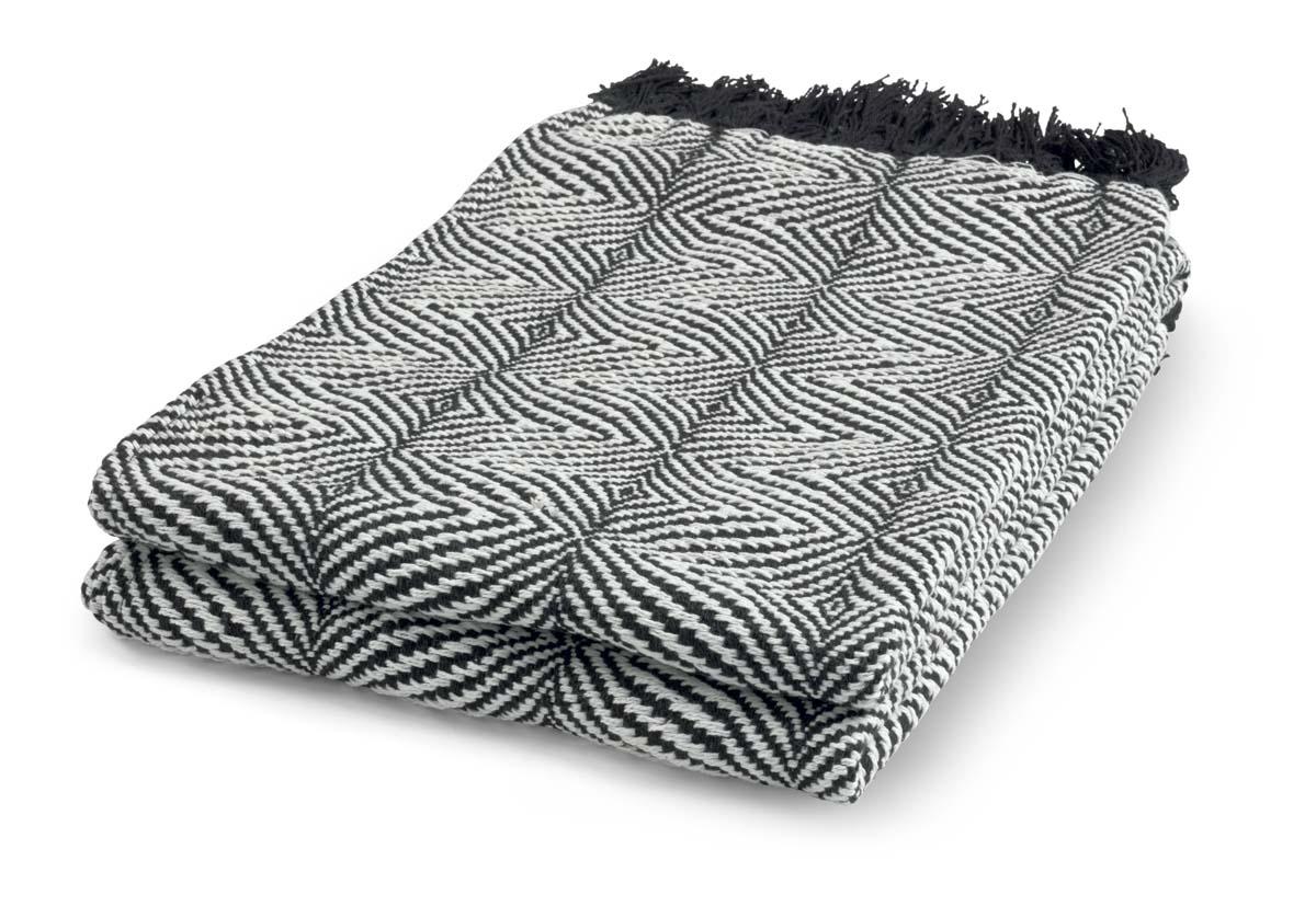 SABINE - Plaid zwart 130x180 cm