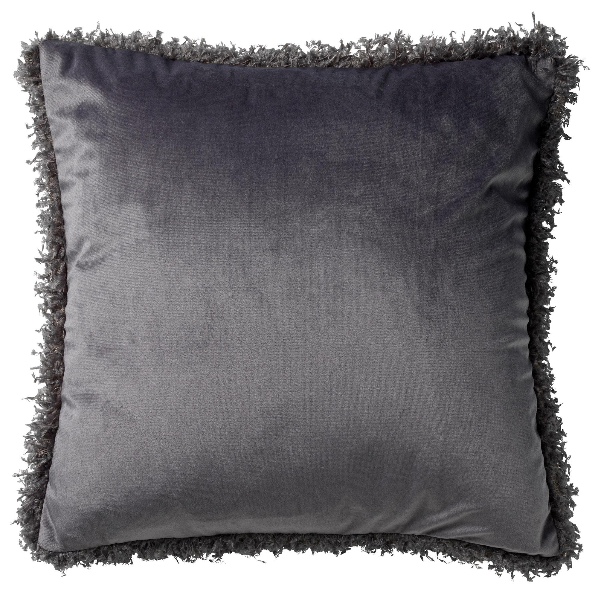 SAARA - Sierkussen velvet Charcoal Grey 45x45 cm