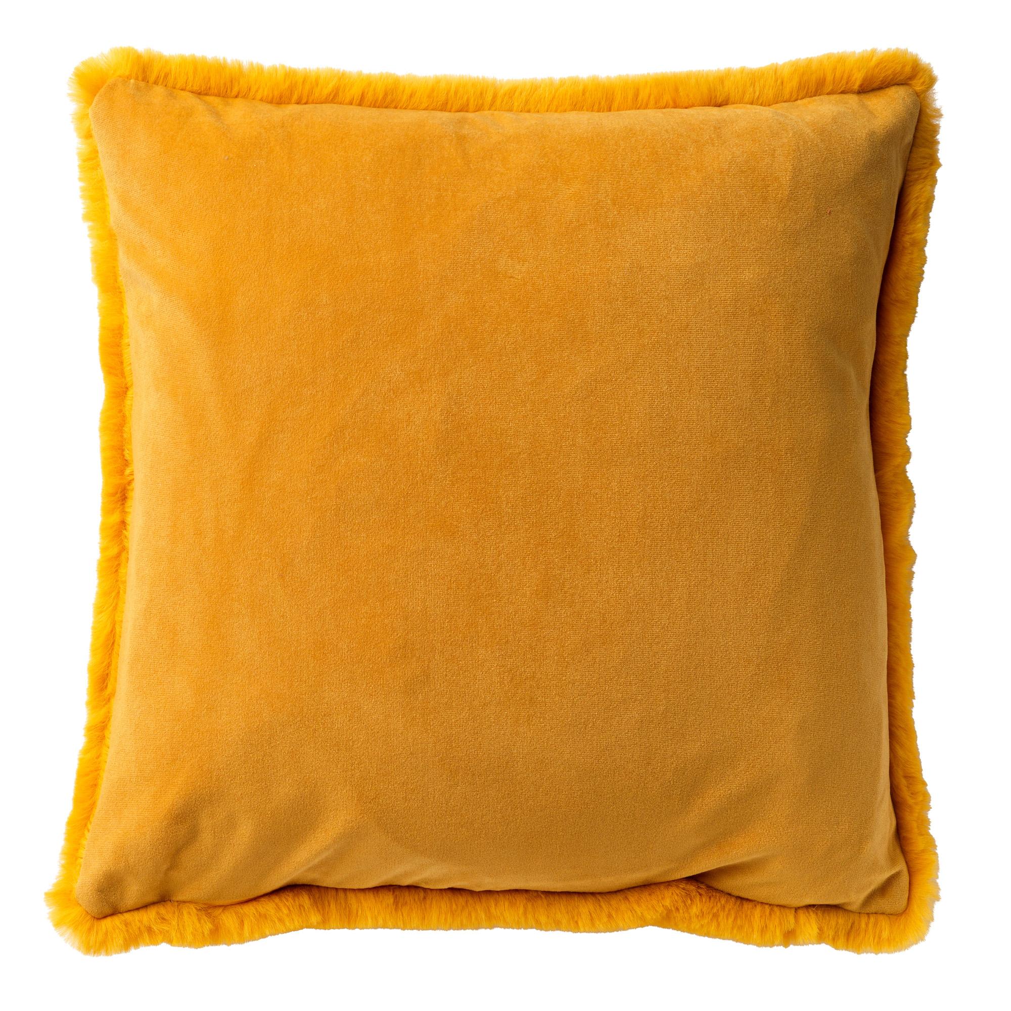 ZAYA - Sierkussen met imitatiebont Golden Glow 45x45 cm