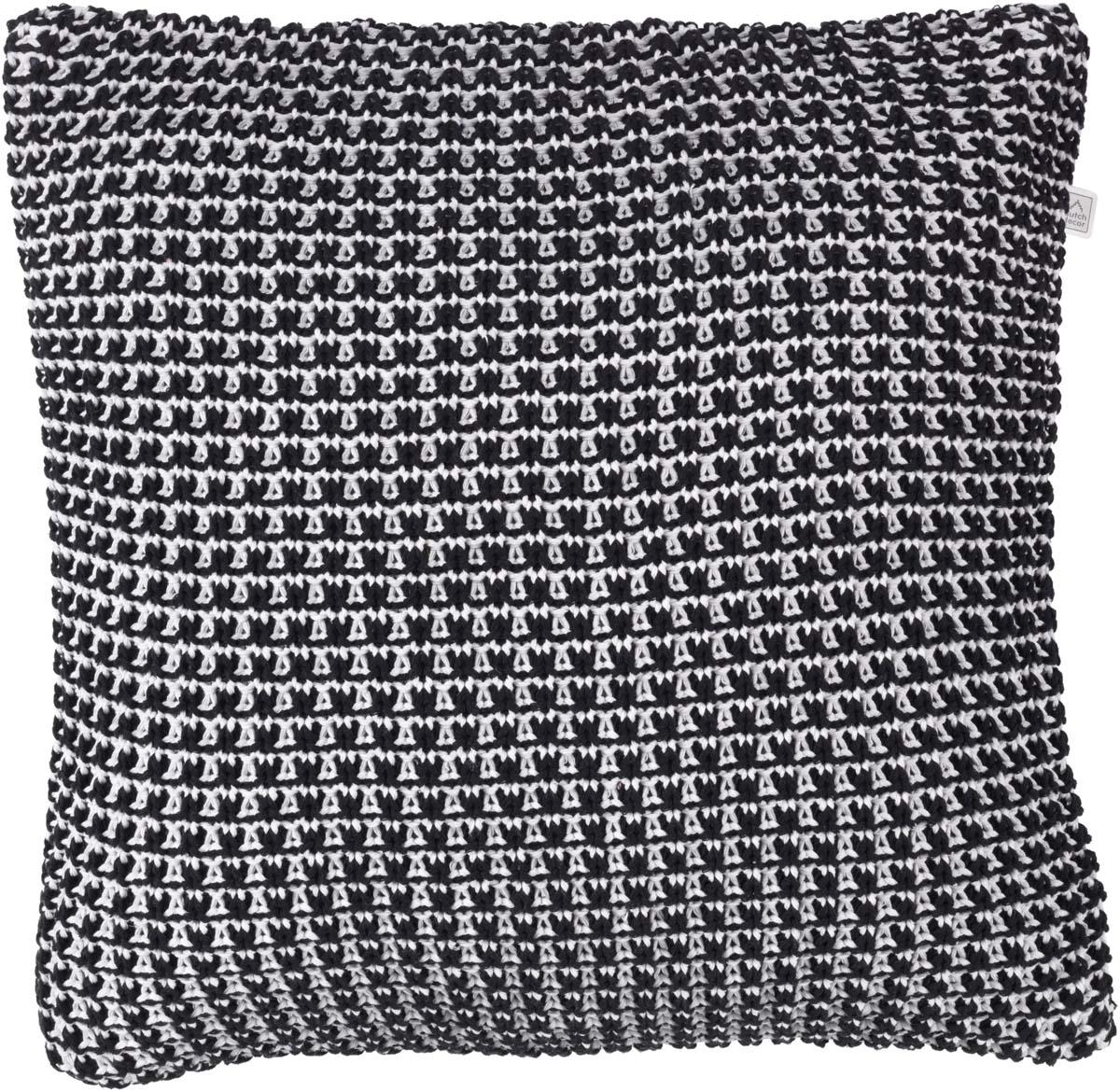 IDEBO - Sierkussen zwart 45x45 cm