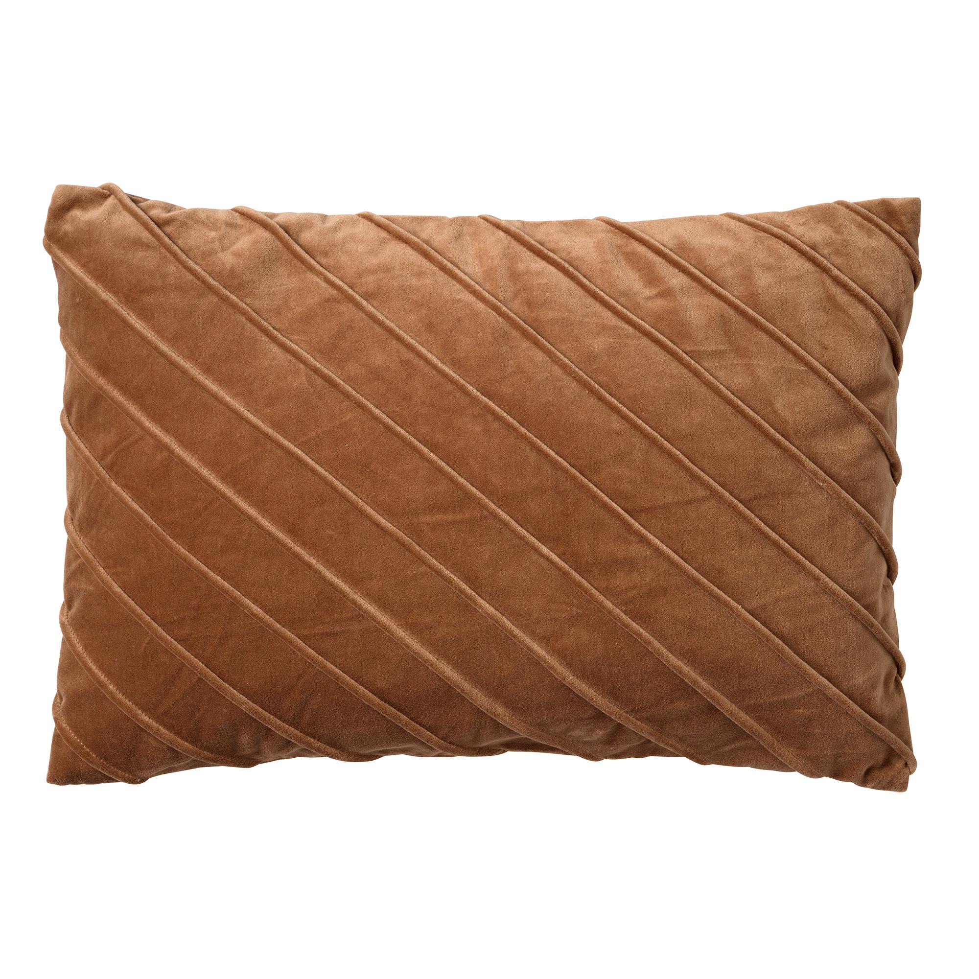 PACO - Kussenhoes velvet 40x60 cm Tobacco brown