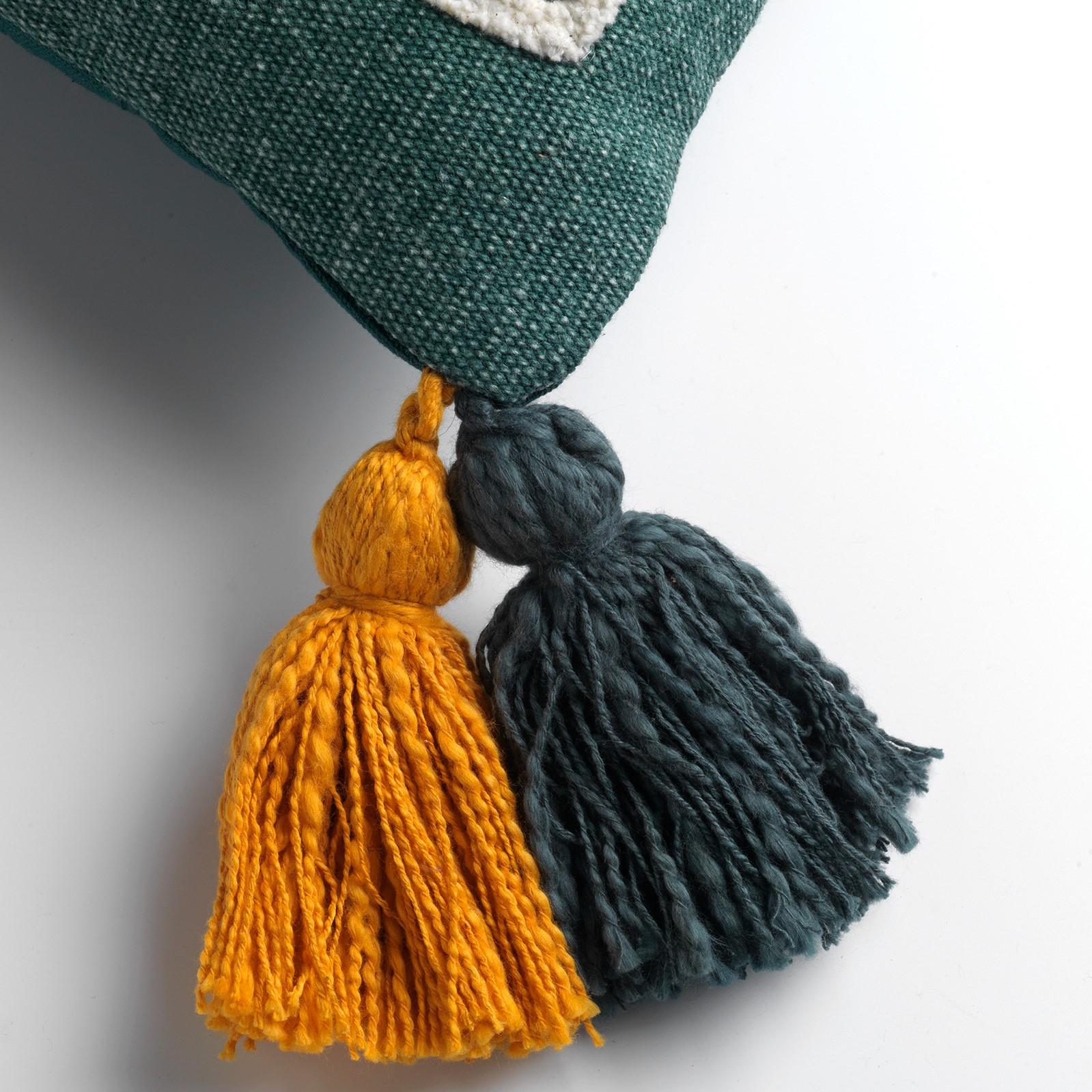 ZINA - Sierkussen van katoen Sagebrush Green 40x60 cm