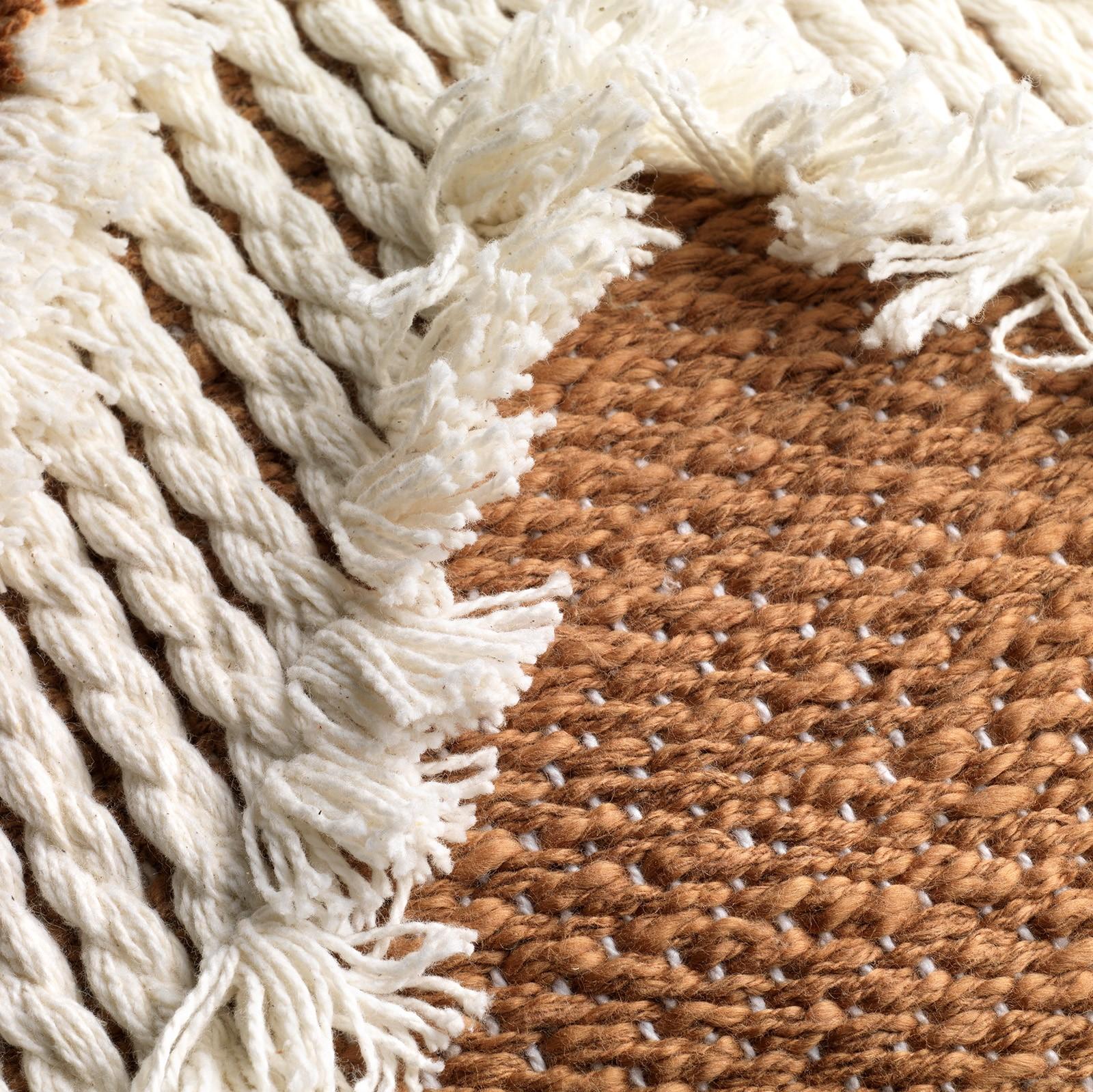 ARROW - Sierkussen van katoen Tobacco Brown 40x60 cm