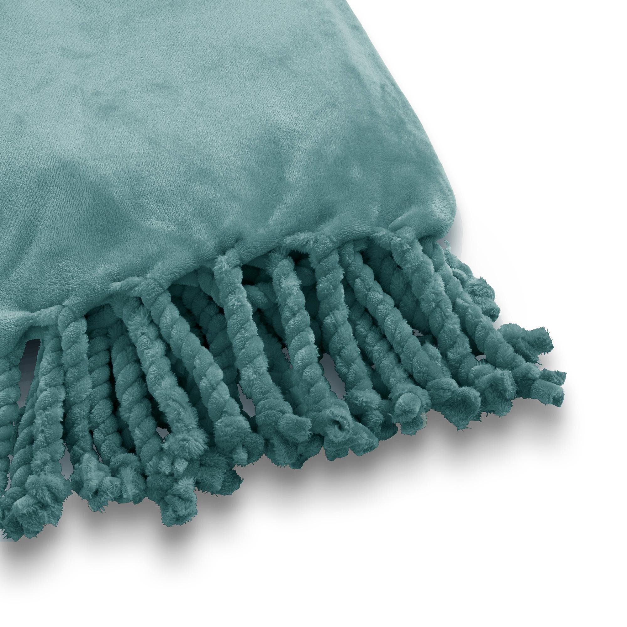 FLORIJN - Plaid van fleece 150x200 cm Sagebrush Green
