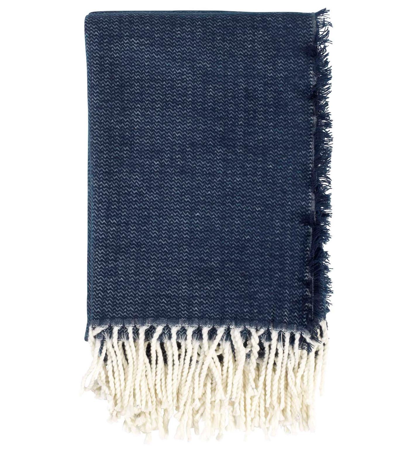 DANI - Plaid donkerblauw 130x170 cm