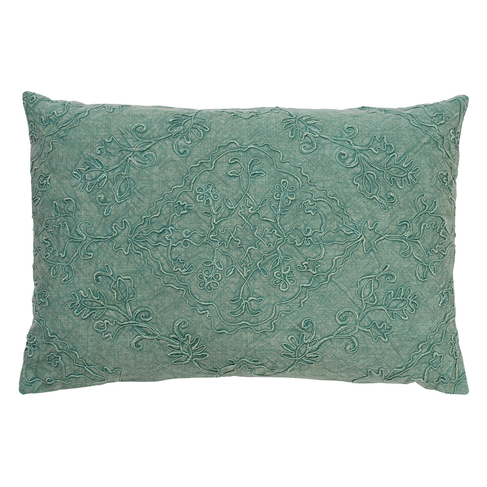 EVY - Sierkussen van katoen Jadeite 40x60 cm
